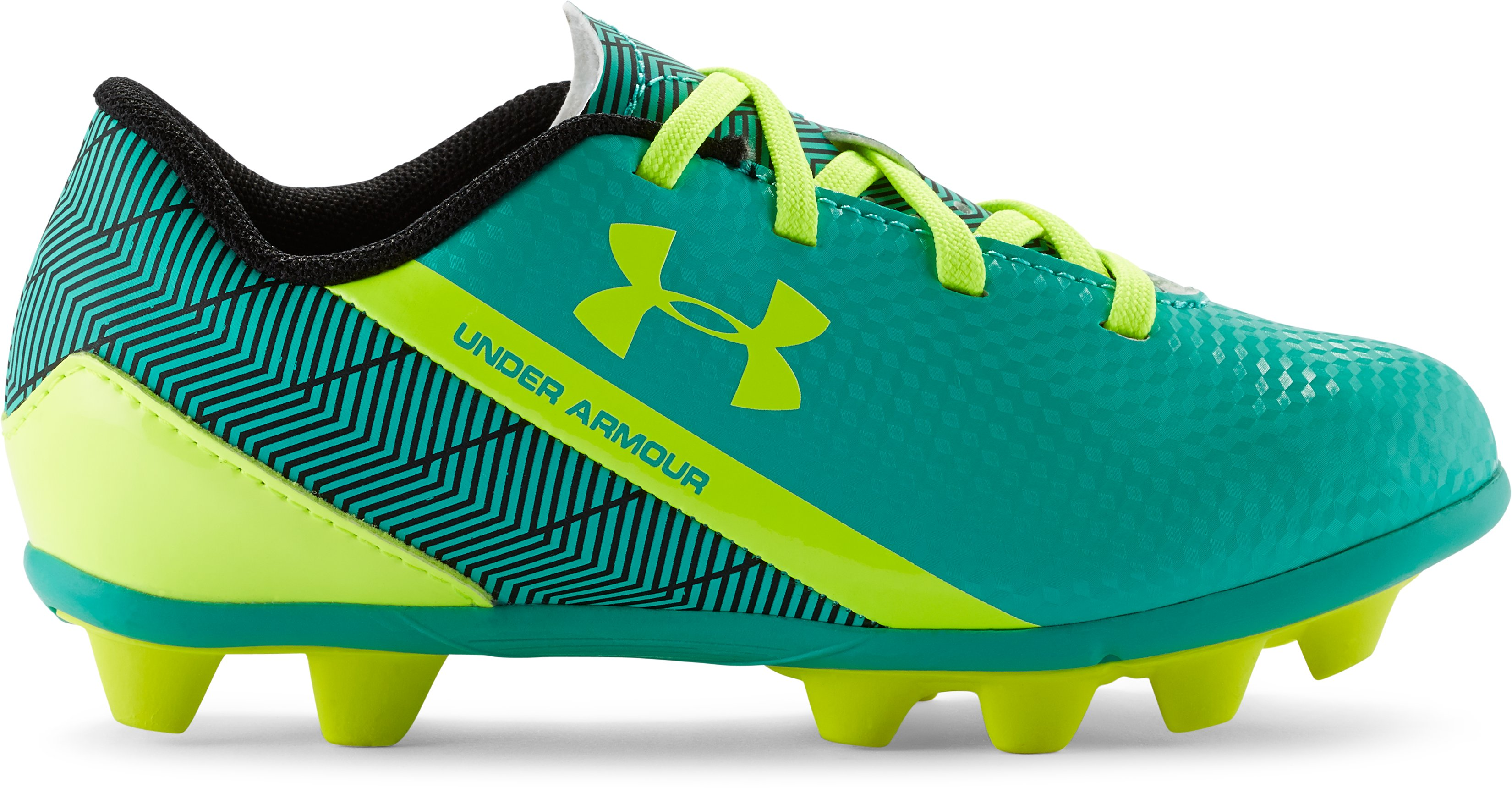 Kids' UA Flash HG Jr. Soccer Cleats, GREEN ENERGY