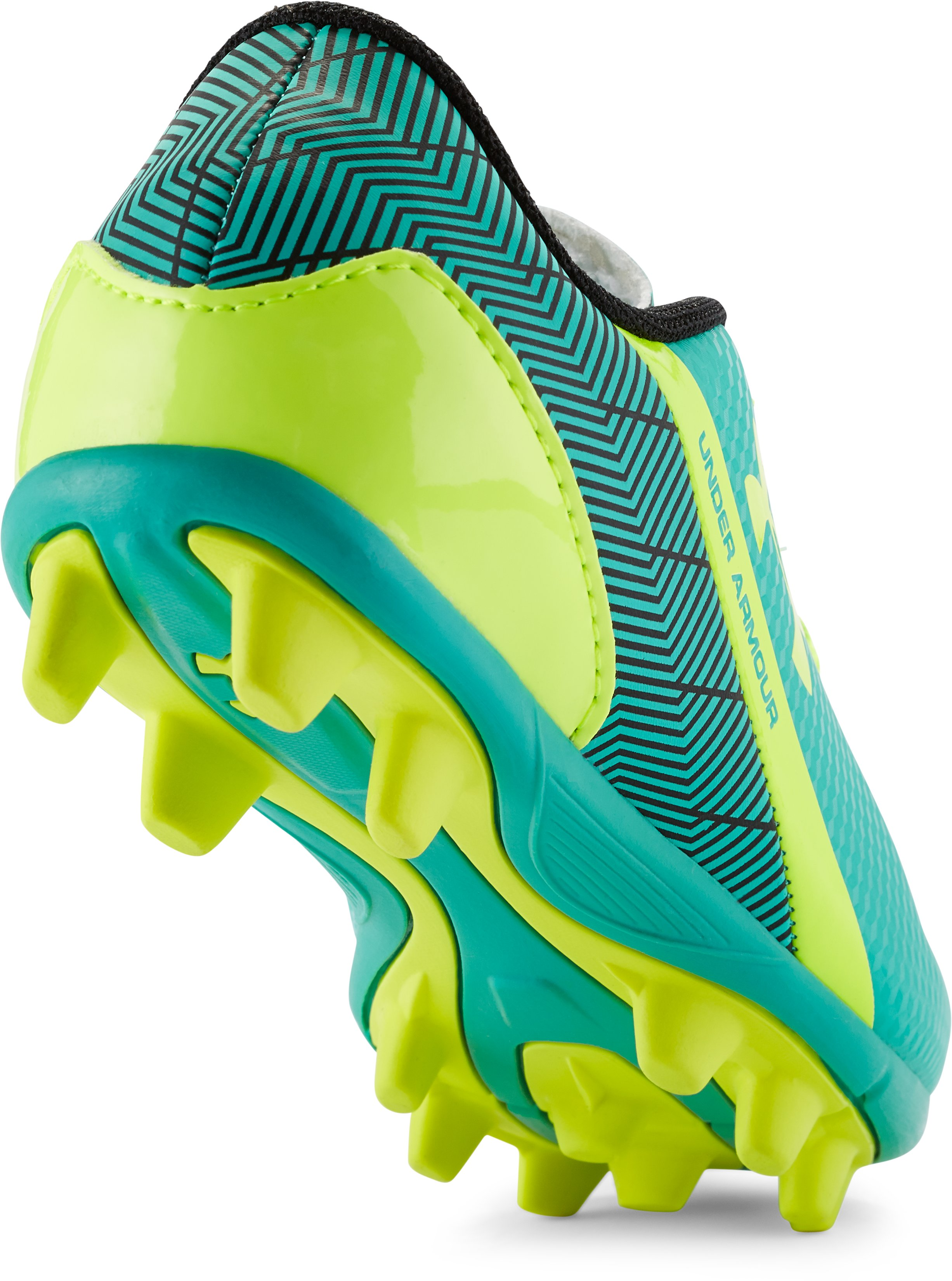 Kids' UA Flash HG Jr. Soccer Cleats, GREEN ENERGY, undefined