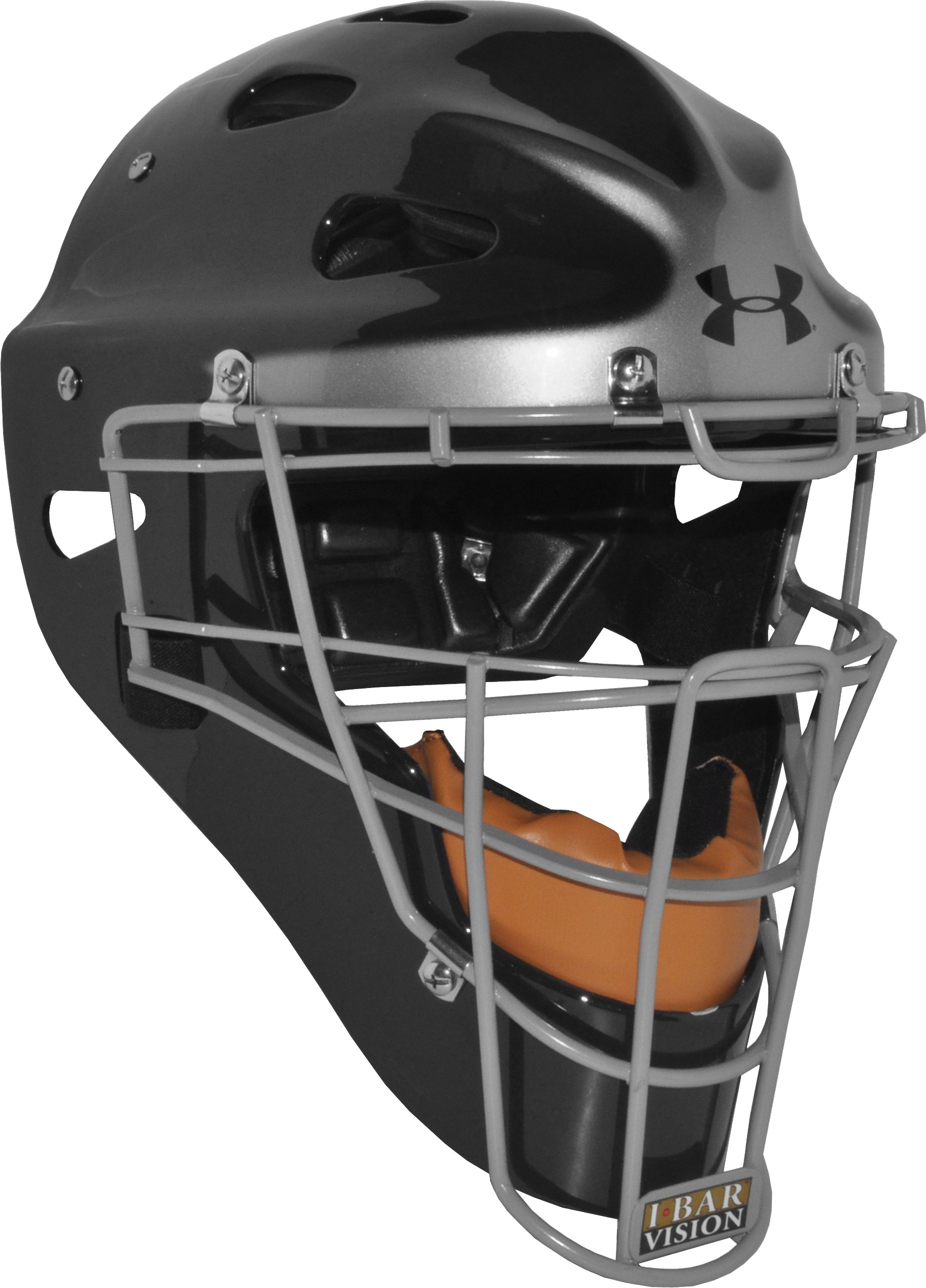 Men's Pro Catcher's Headgear, Black , zoomed image