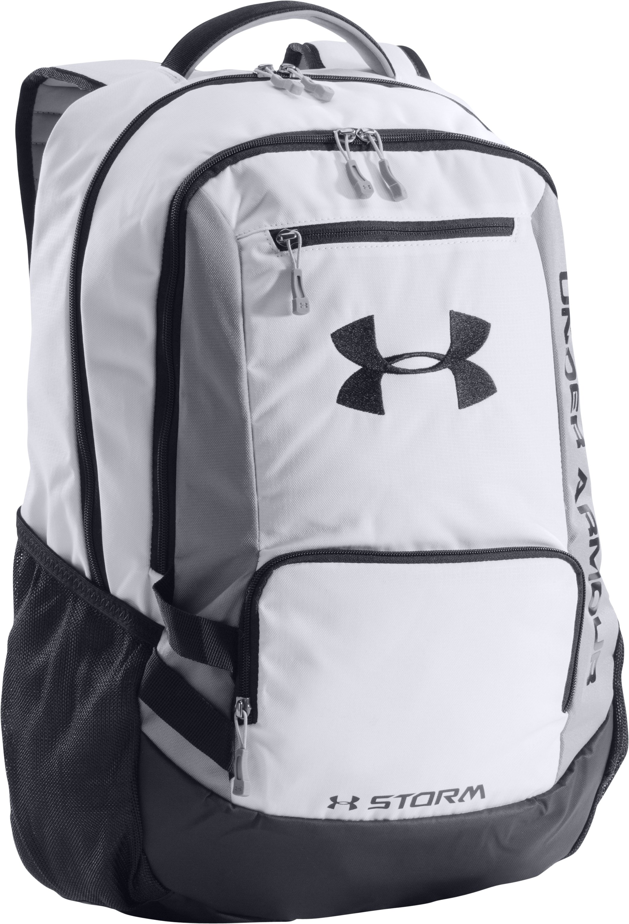UA Storm Hustle Backpack, White, zoomed image