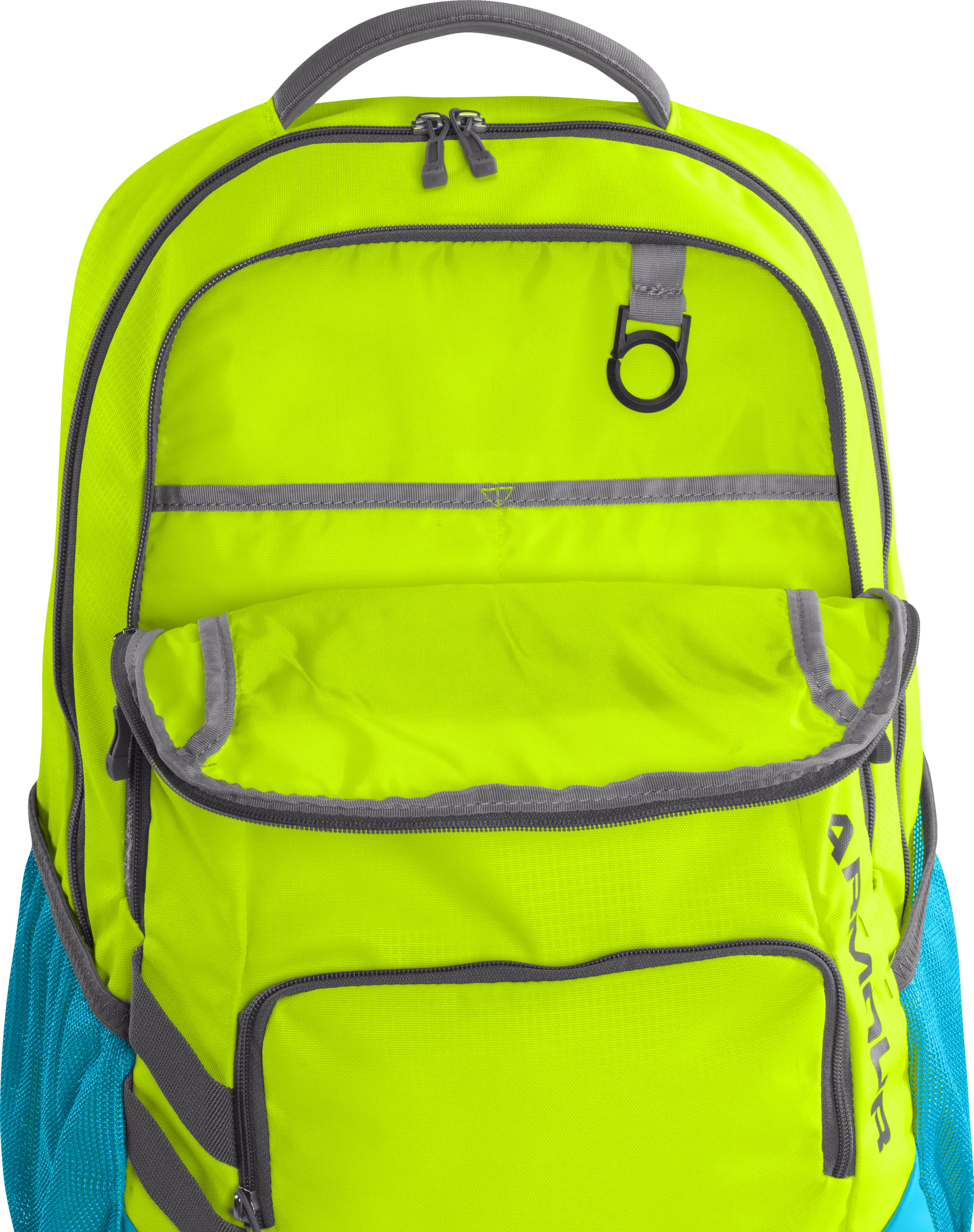 UA Storm Hustle Backpack, High-Vis Yellow, undefined