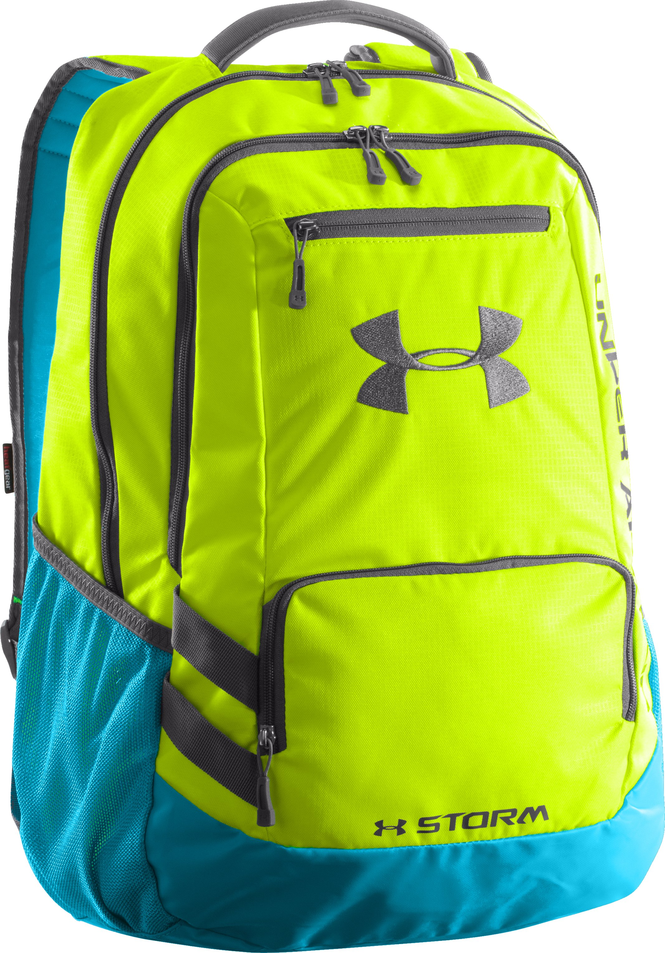 UA Storm Hustle Backpack, High-Vis Yellow, zoomed image