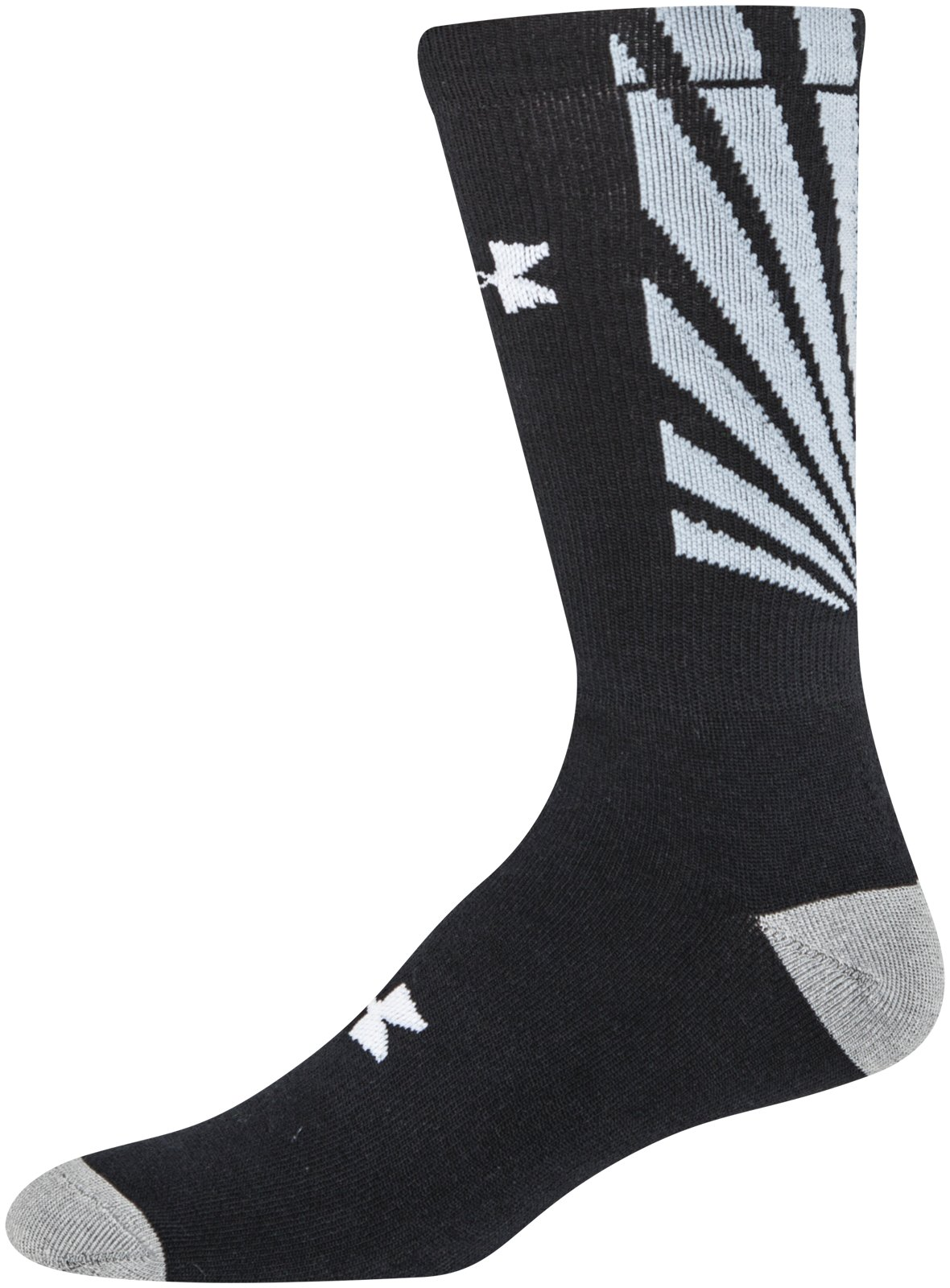 Men's UA Burst Crew Socks, Black , zoomed image