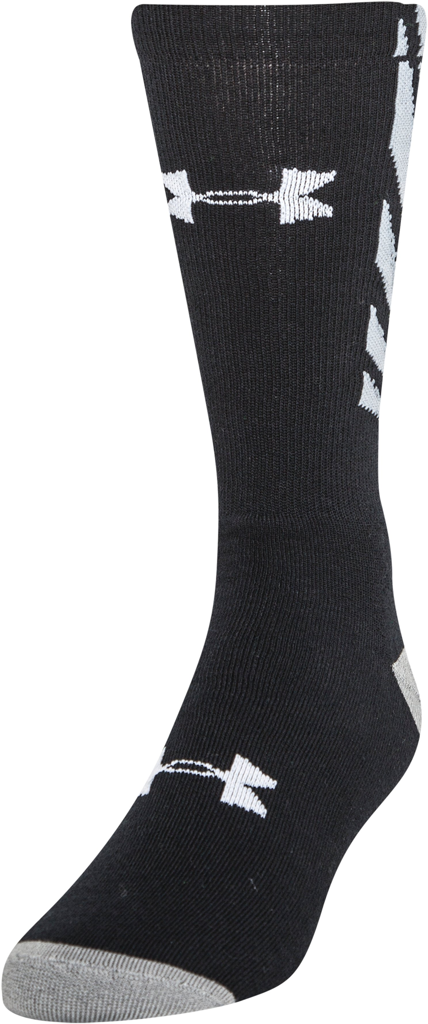 Men's UA Burst Crew Socks, Black