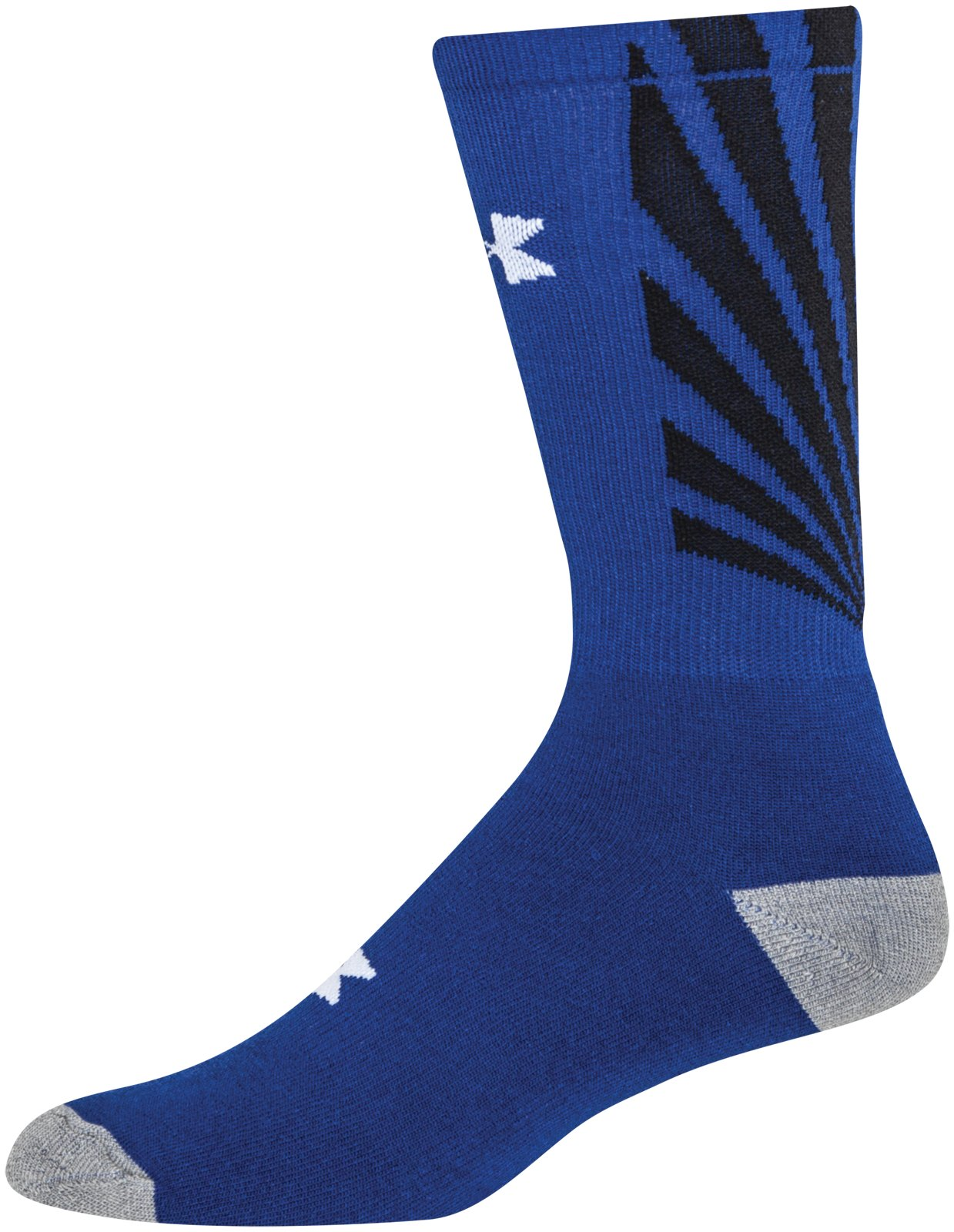 Men's UA Burst Crew Socks, Royal
