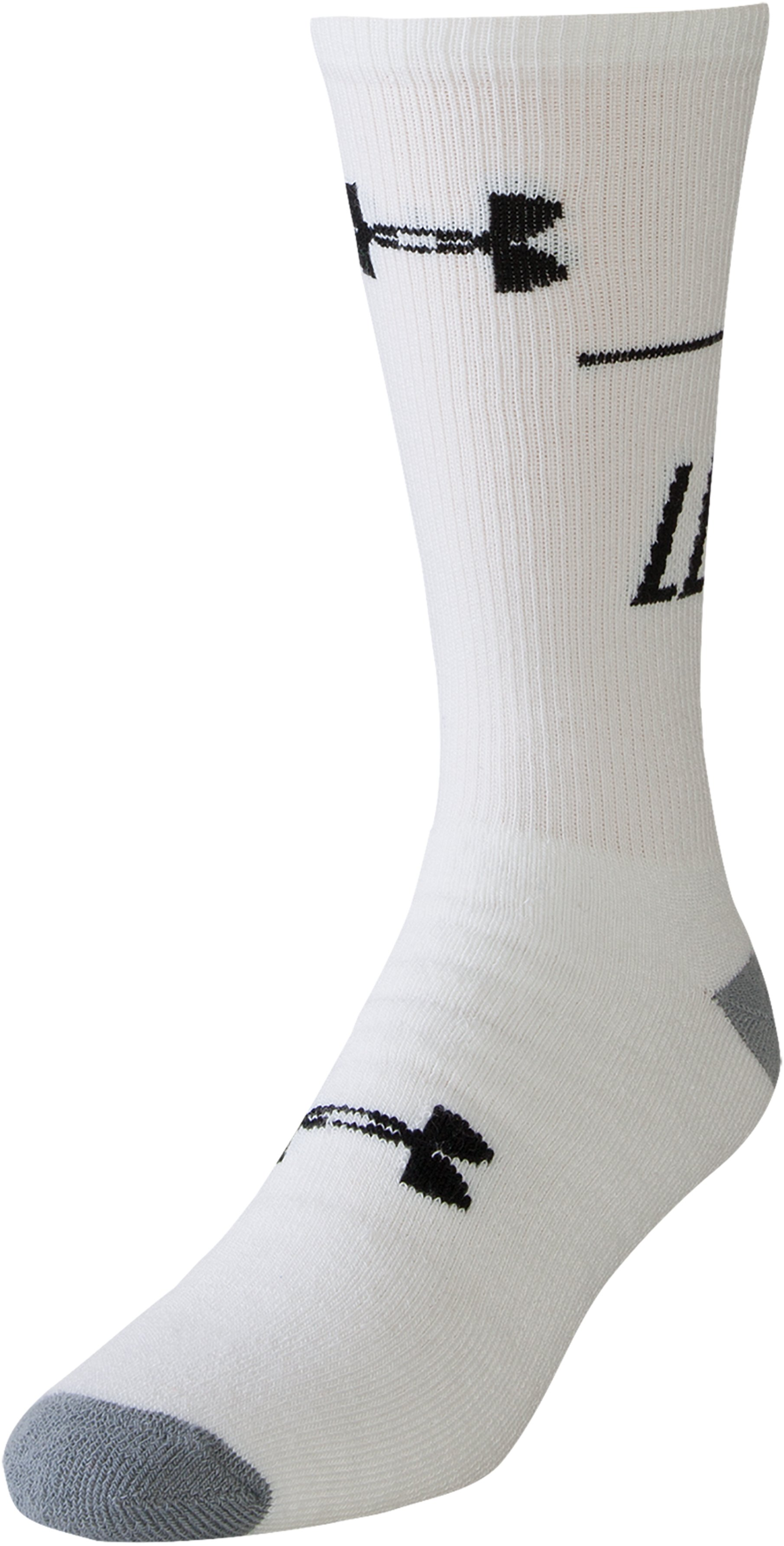 Men's UA Get On My Level Crew Socks, White