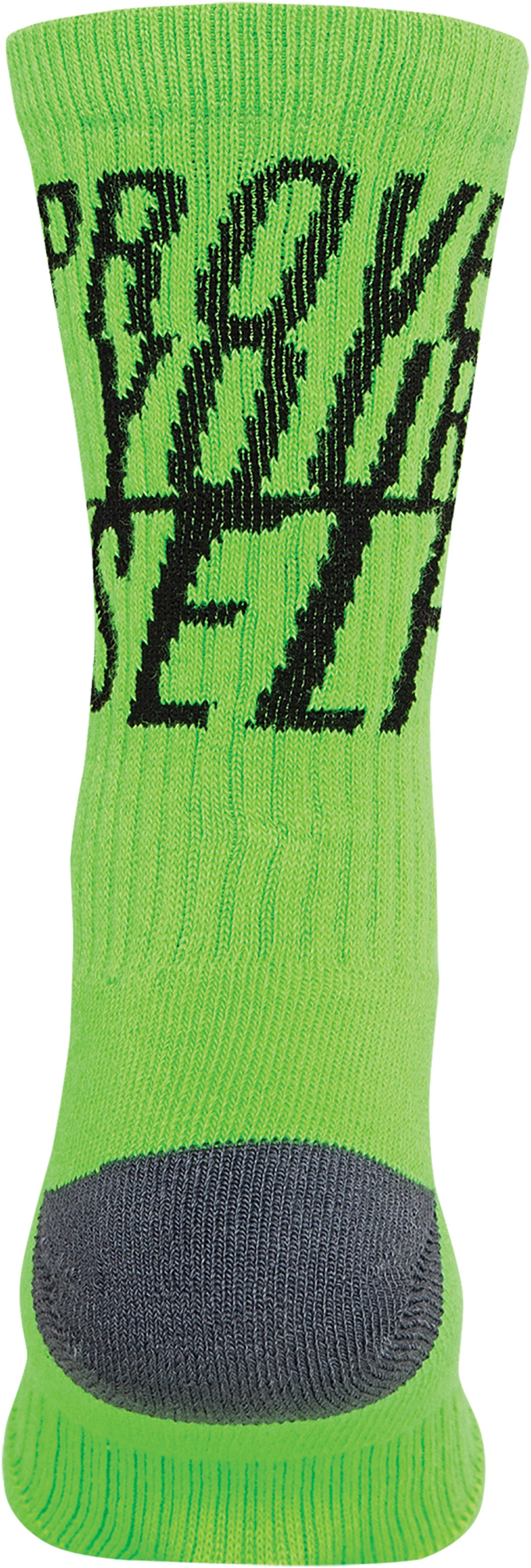 Men's UA Prove Yourself Crew Socks, HYPER GREEN