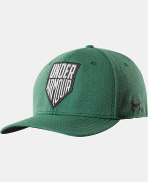 Men's UA Shield Logo Stretch Fit Cap LIMITED TIME: FREE U.S. SHIPPING 1 Color $20.99