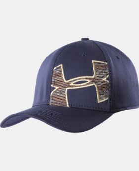 Men's UA Camo Mesh Logo Stretch Fit Cap