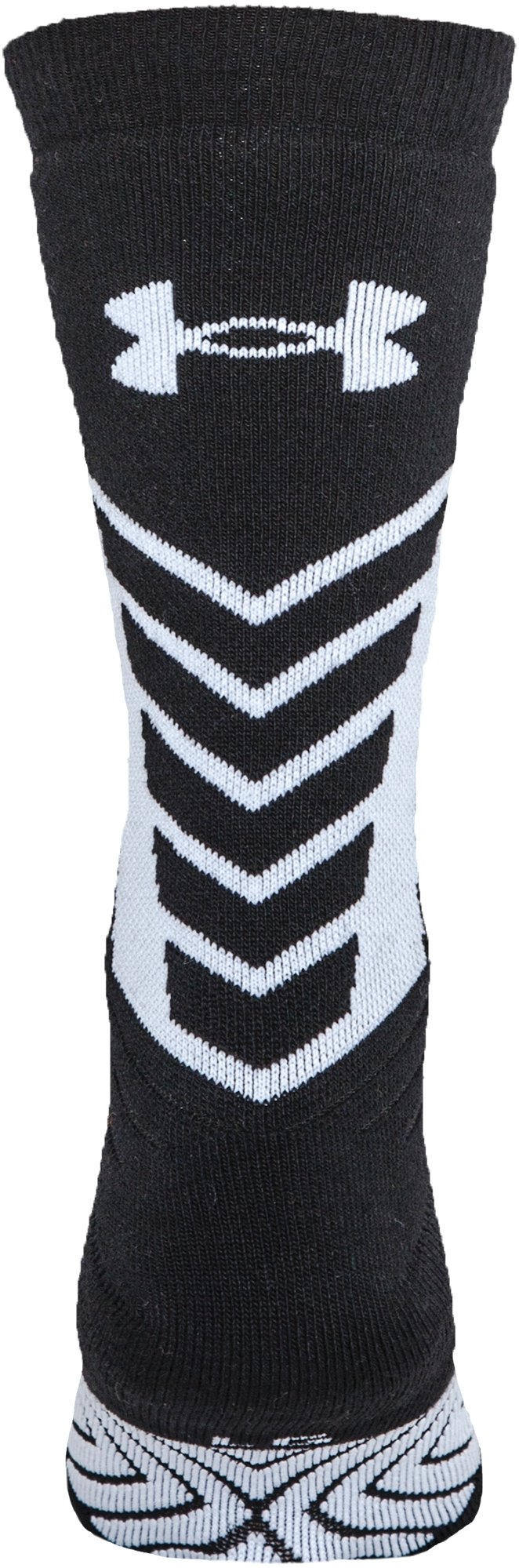 Men's UA Undeniable Crew Socks, Black