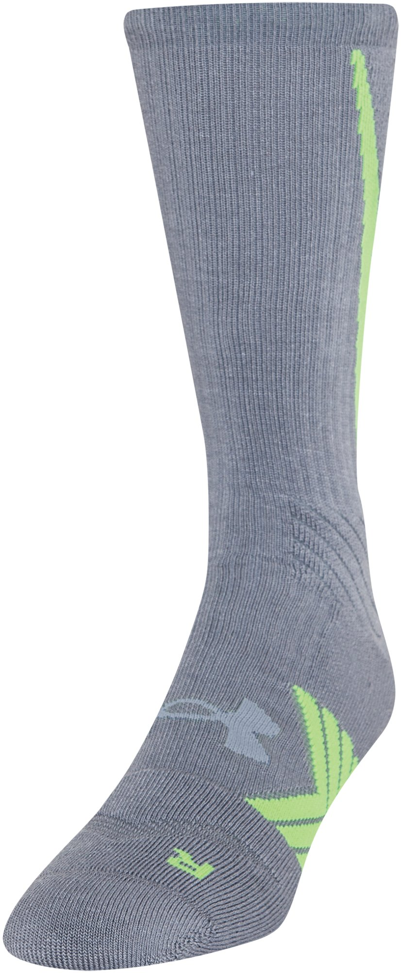 Men's UA Undeniable Crew Socks, Steel, zoomed image