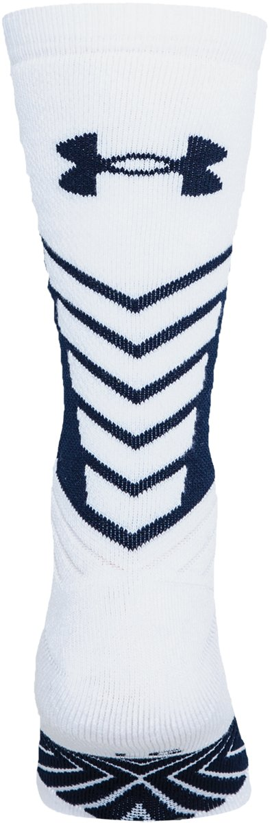 Men's UA Undeniable Crew Socks, White,