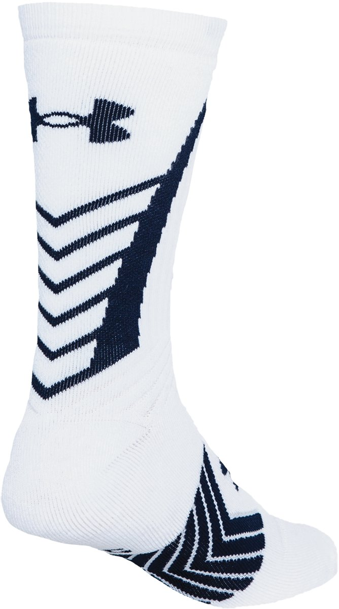 Men's UA Undeniable Crew Socks, White, undefined