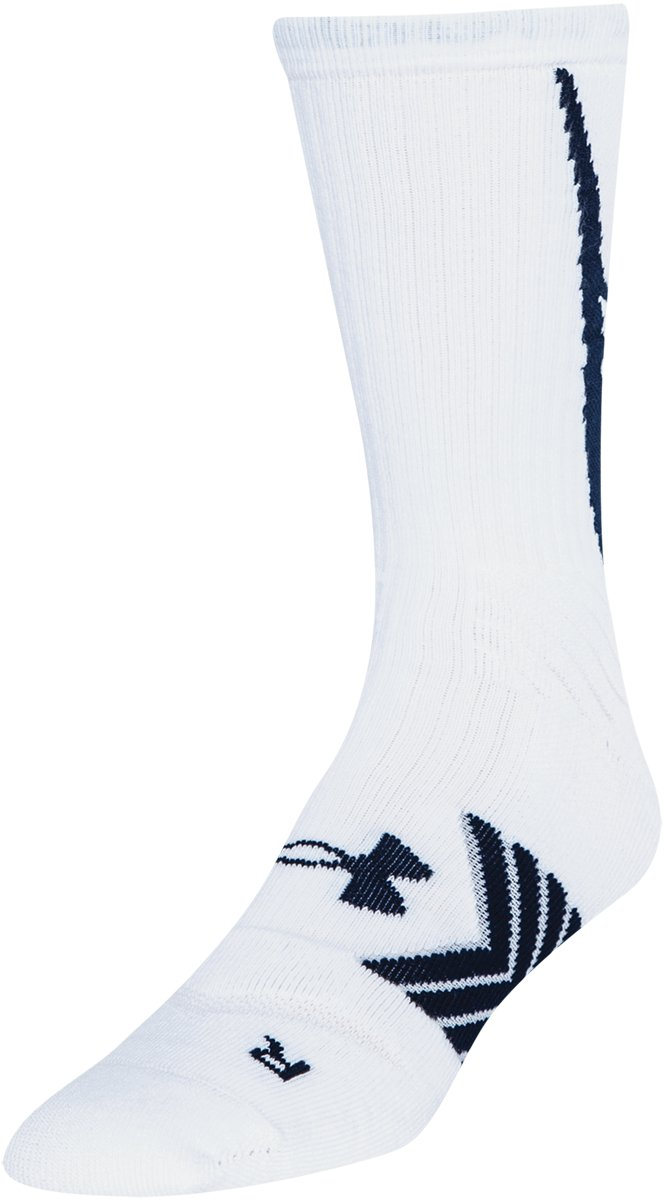Men's UA Undeniable Crew Socks, White