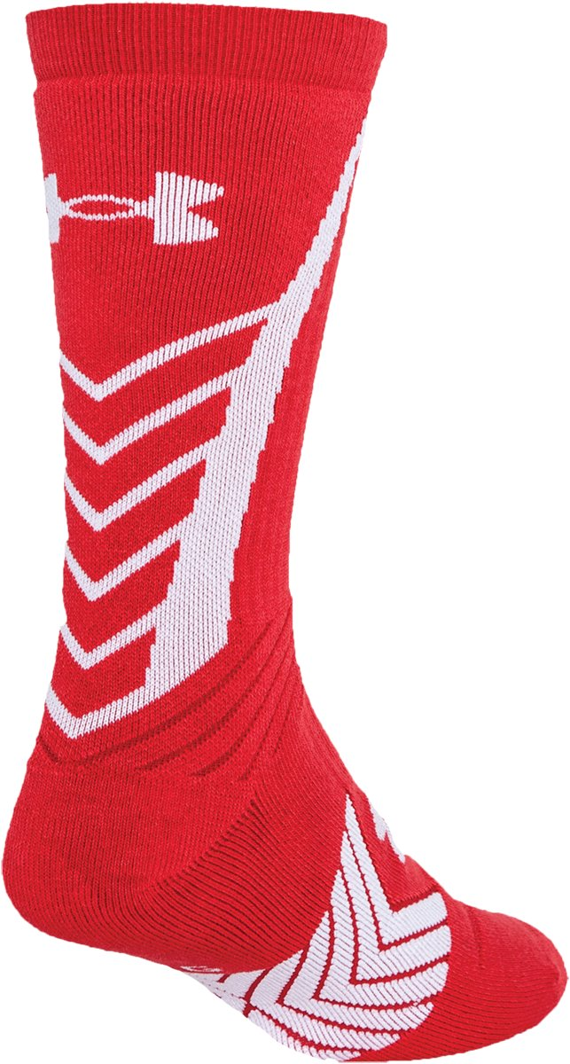 Men's UA Undeniable Crew Socks, Red