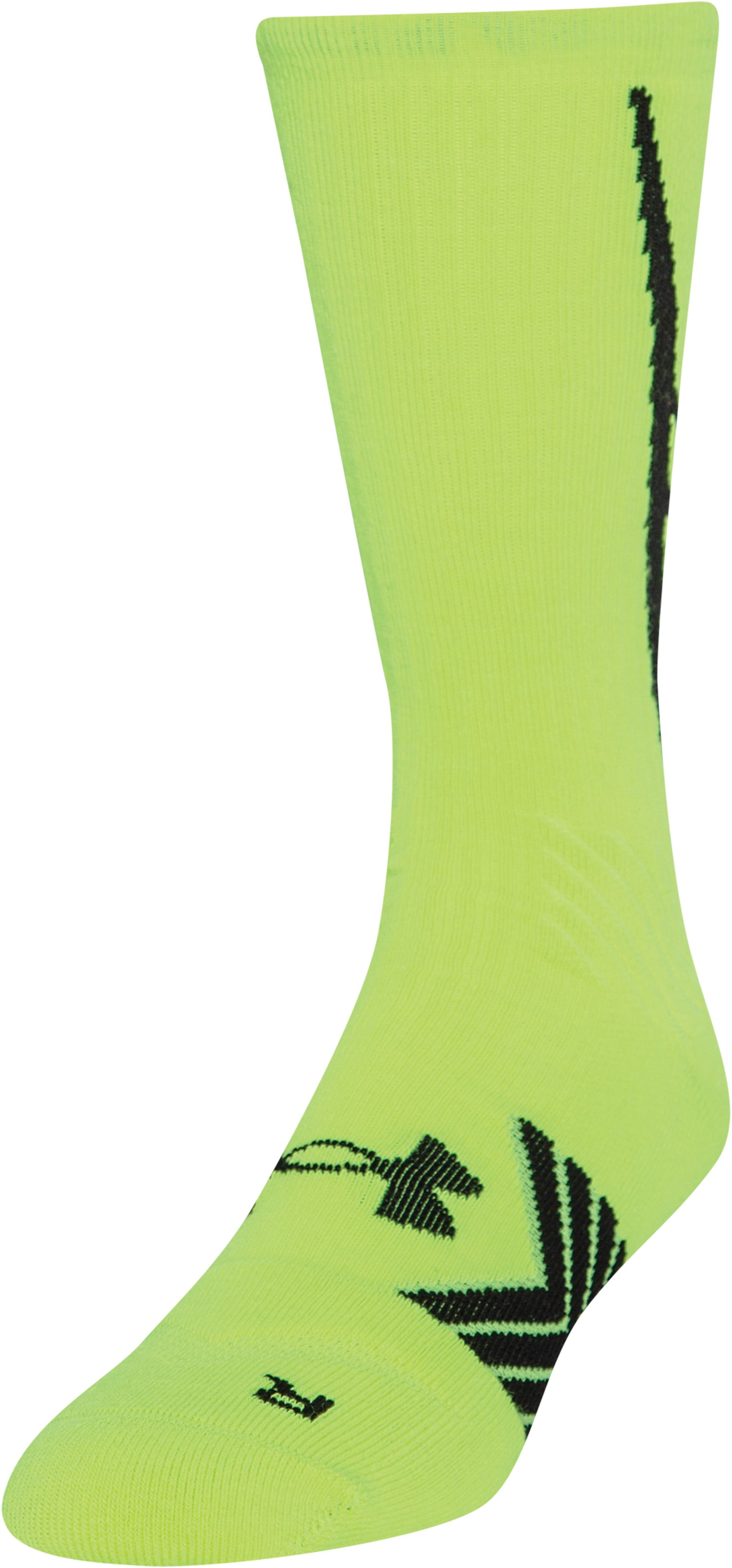 Men's UA Undeniable Crew Socks, High-Vis Yellow, zoomed image