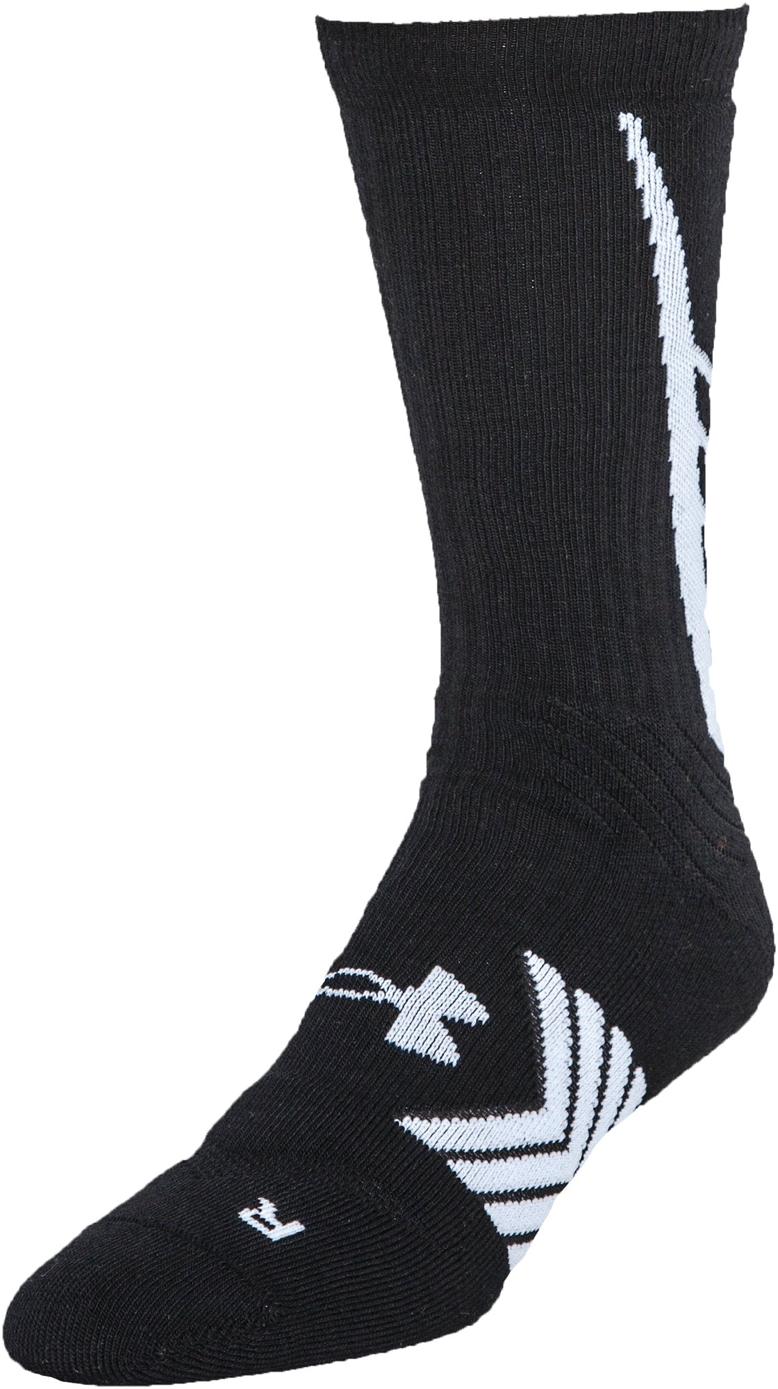 Boys' UA Undeniable Crew Socks, Black