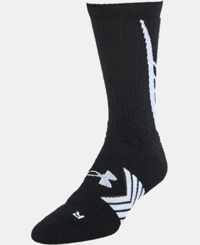 Boys' UA Undeniable Crew Socks LIMITED TIME: FREE SHIPPING 1 Color $10.99