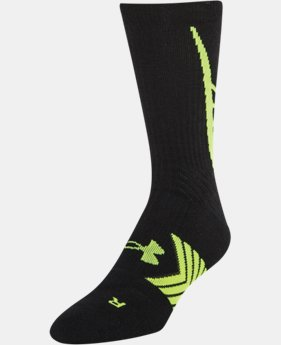 Best Seller Boys' UA Undeniable Crew Socks  3 Colors $13.99