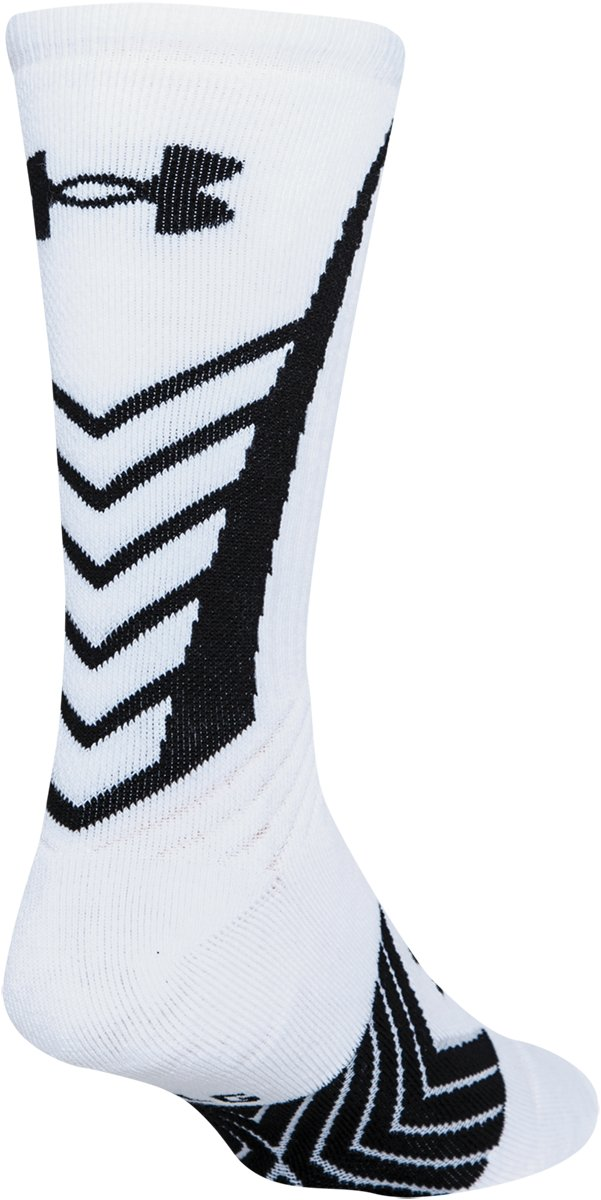 Boys' UA Undeniable Crew Socks, White