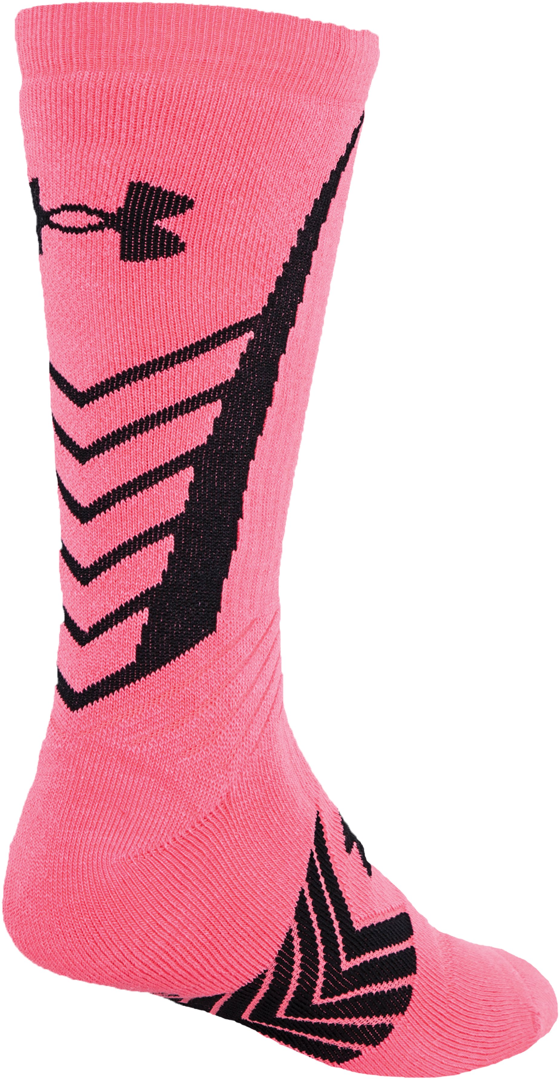 Boys' UA Undeniable Crew Socks, Cerise