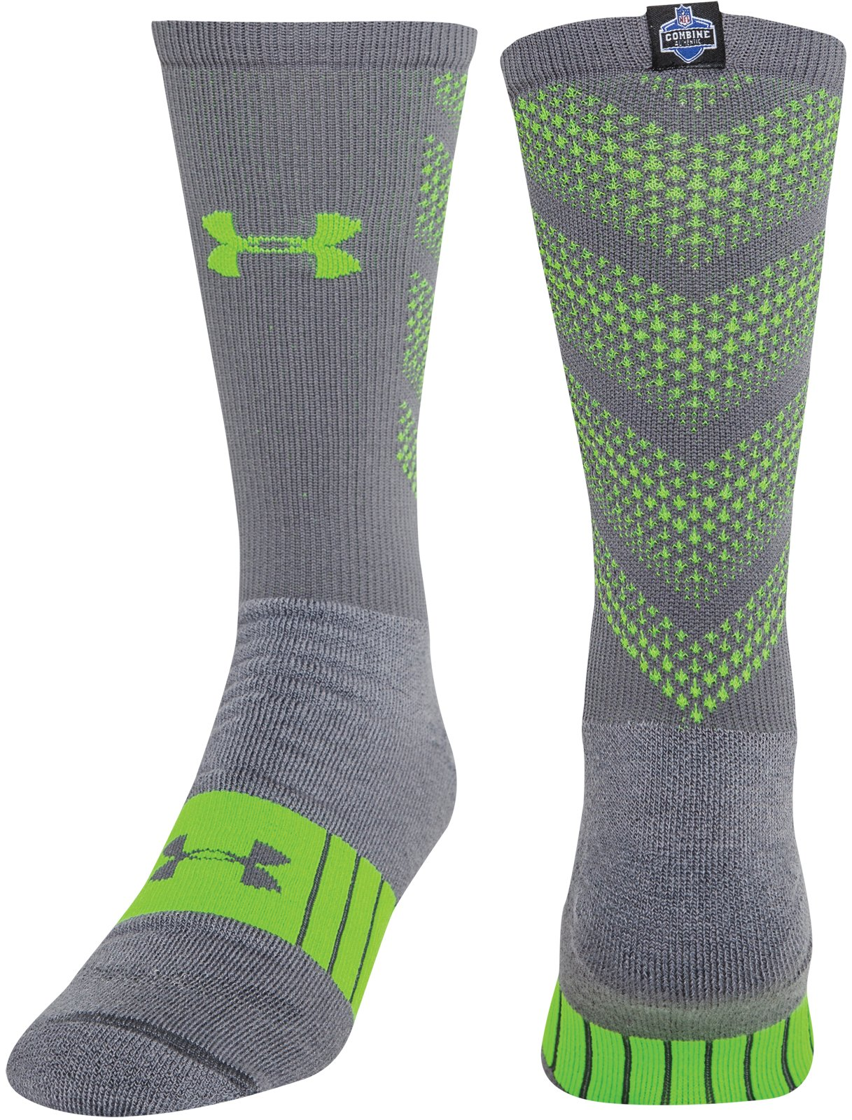 Men's NFL Combine Authentic Socks, Graphite, zoomed image