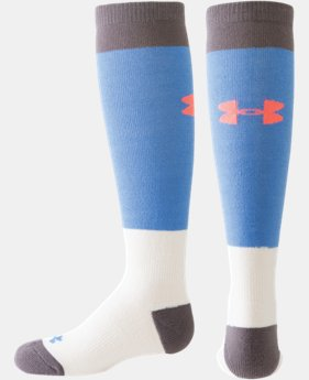 Girls' UA Color Block Over-The-Calf Socks