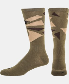Men's UA Color Shatter Light Crew Socks