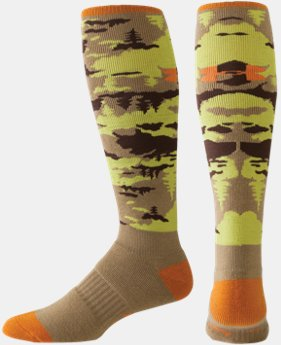 Men's UA Tundraflage Cushion Ski/Snowboard Socks
