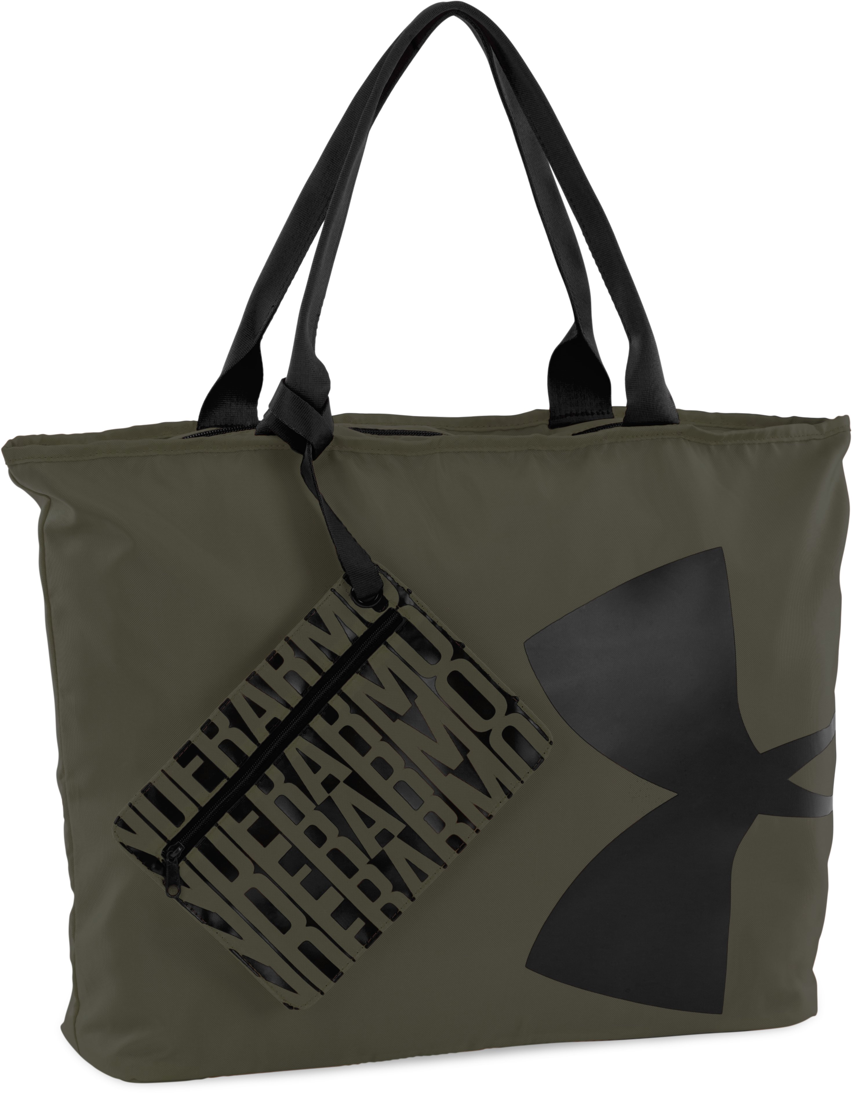 Women's UA Big Logo Tote, DOWNTOWN GREEN, zoomed image