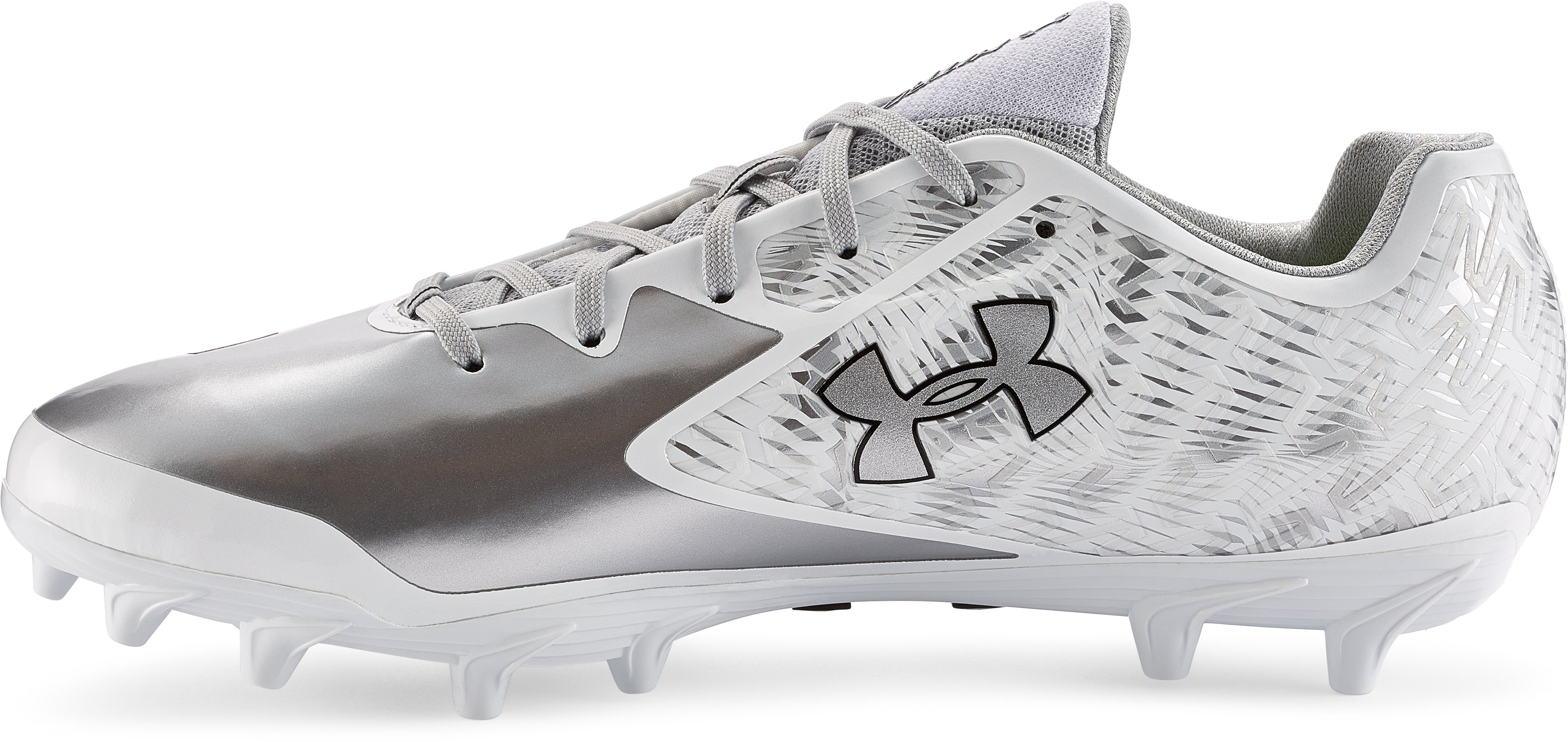 Men's UA Nitro Low MC Football Cleats, White,