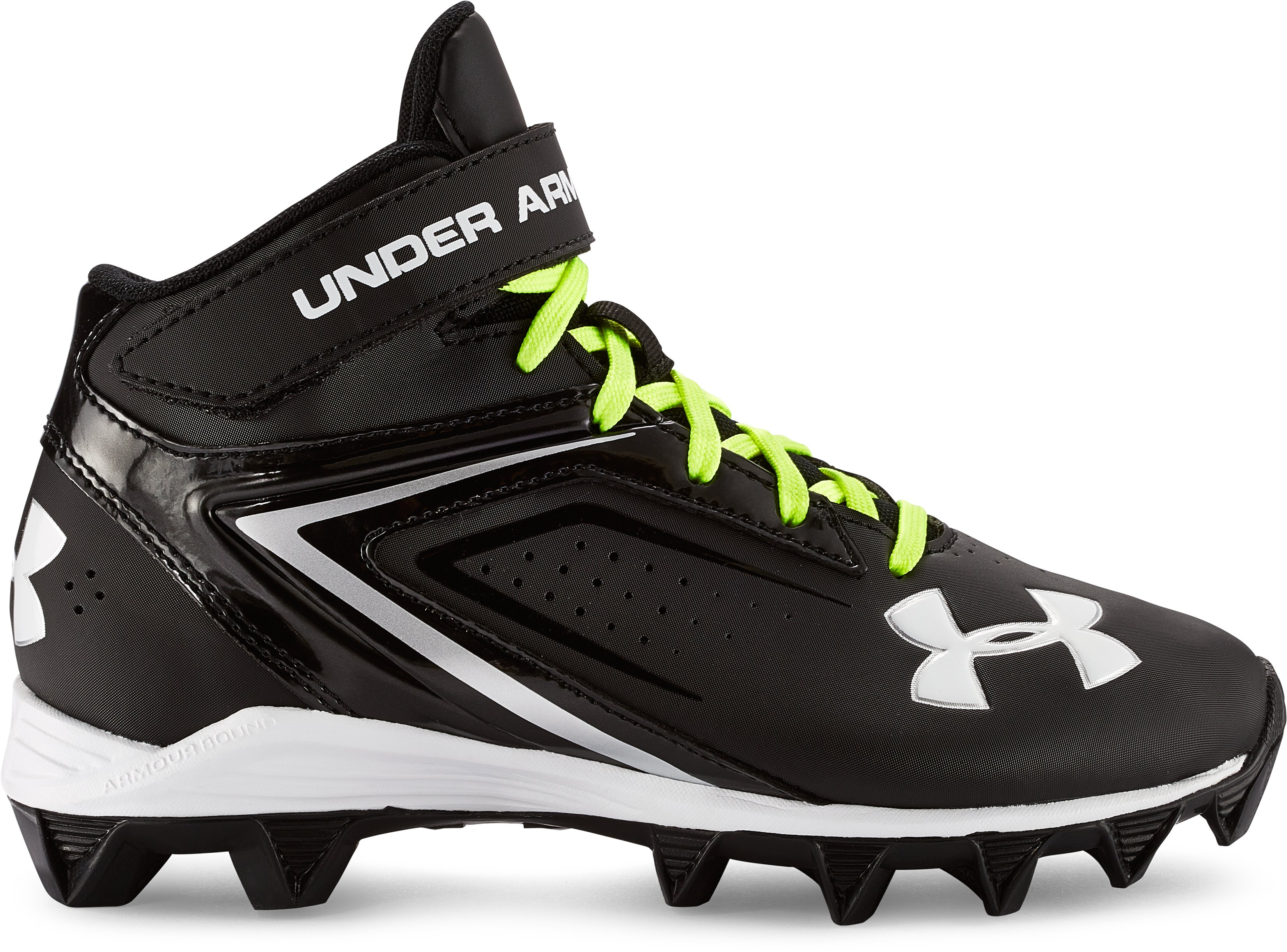 Boys' UA Crusher RM Jr.-BL, Black , zoomed image