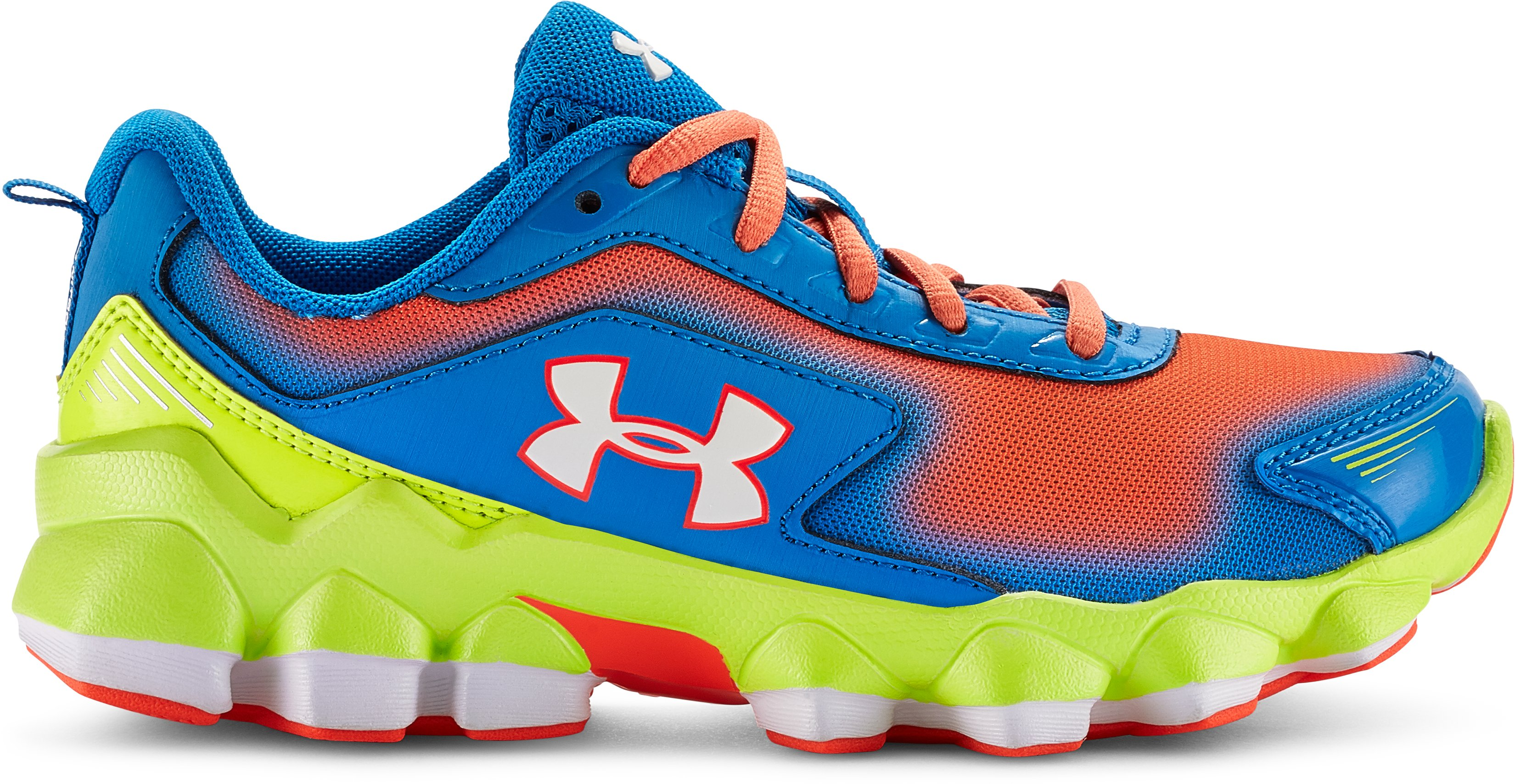 Boys' Pre-School UA Nitrous Running Shoes, BLUE JET, zoomed image