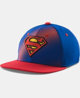 Boys' UA Superman Stretch Fit Cap