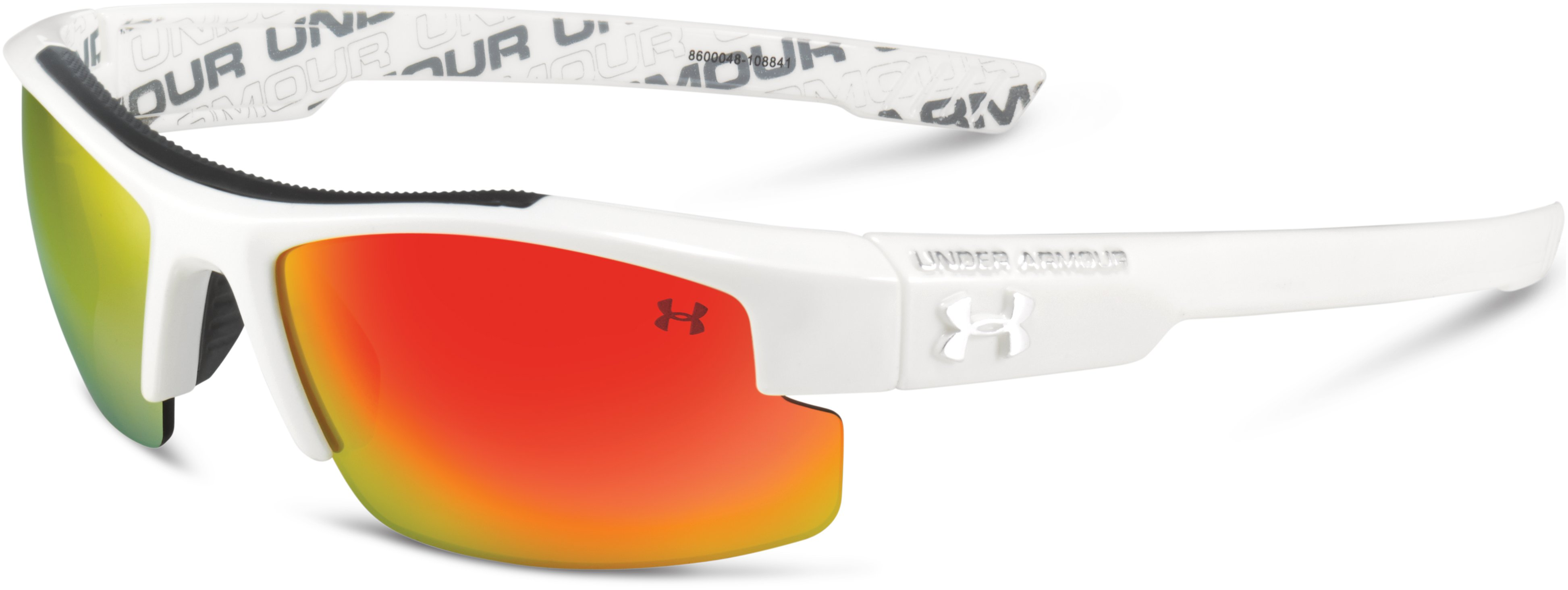 Kids' UA Nitro Sunglasses, Shiny White, zoomed image