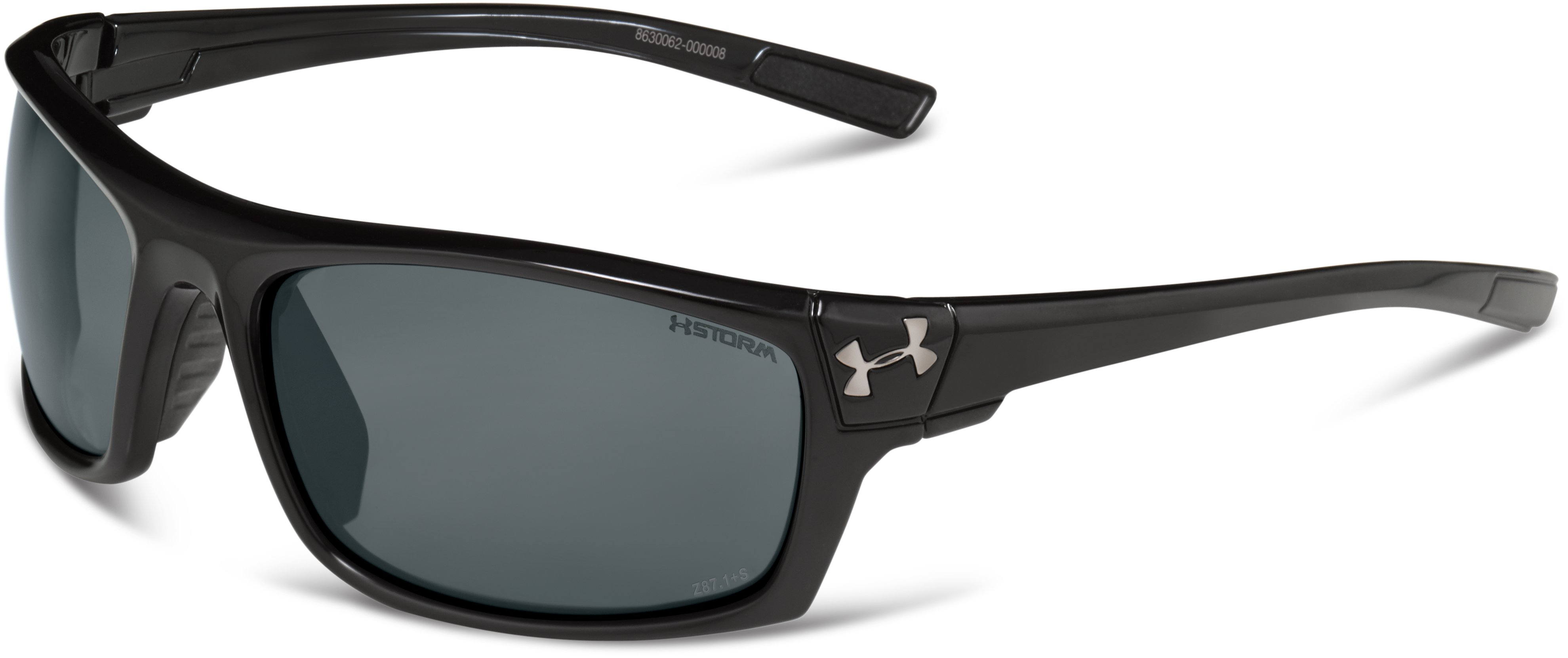 UA Keepz Storm Polarized Sunglasses, Shiny Black