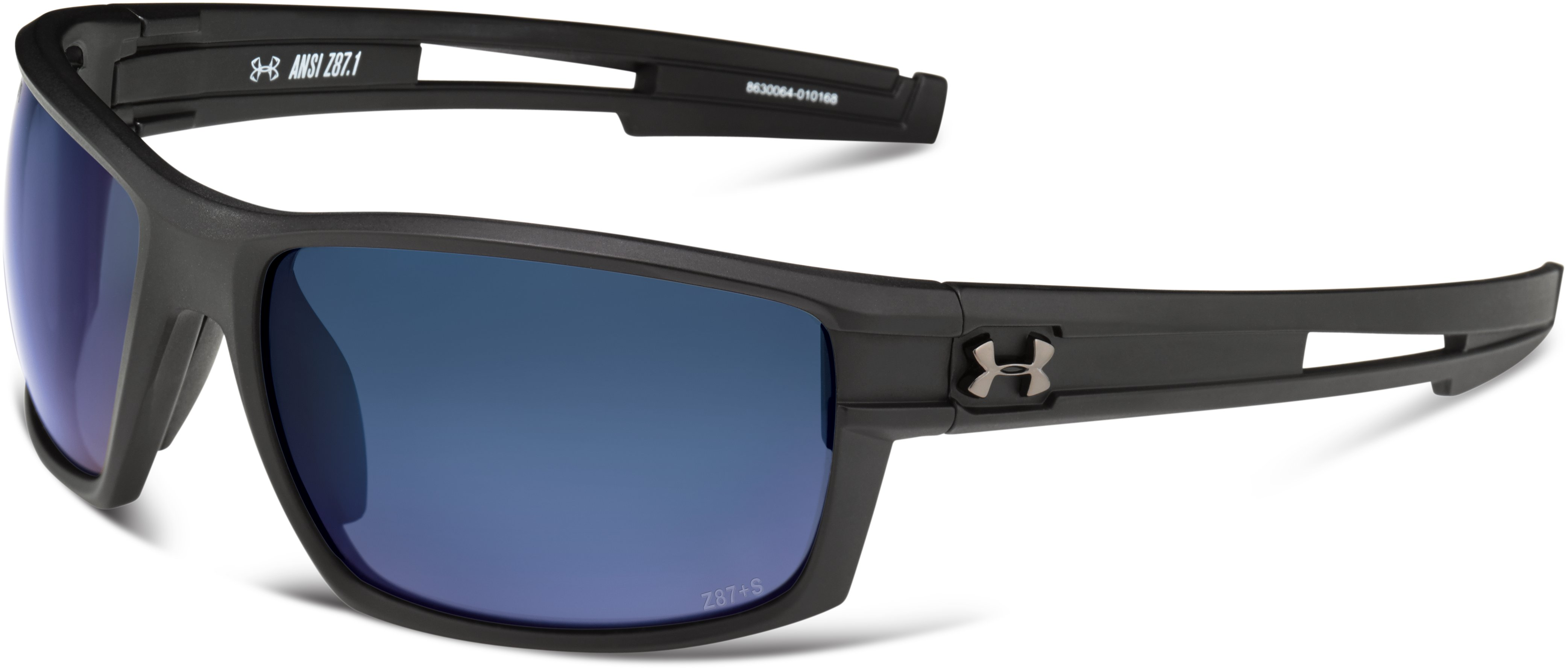 UA Captain Storm Polarized Sunglasses, Satin Black, zoomed image