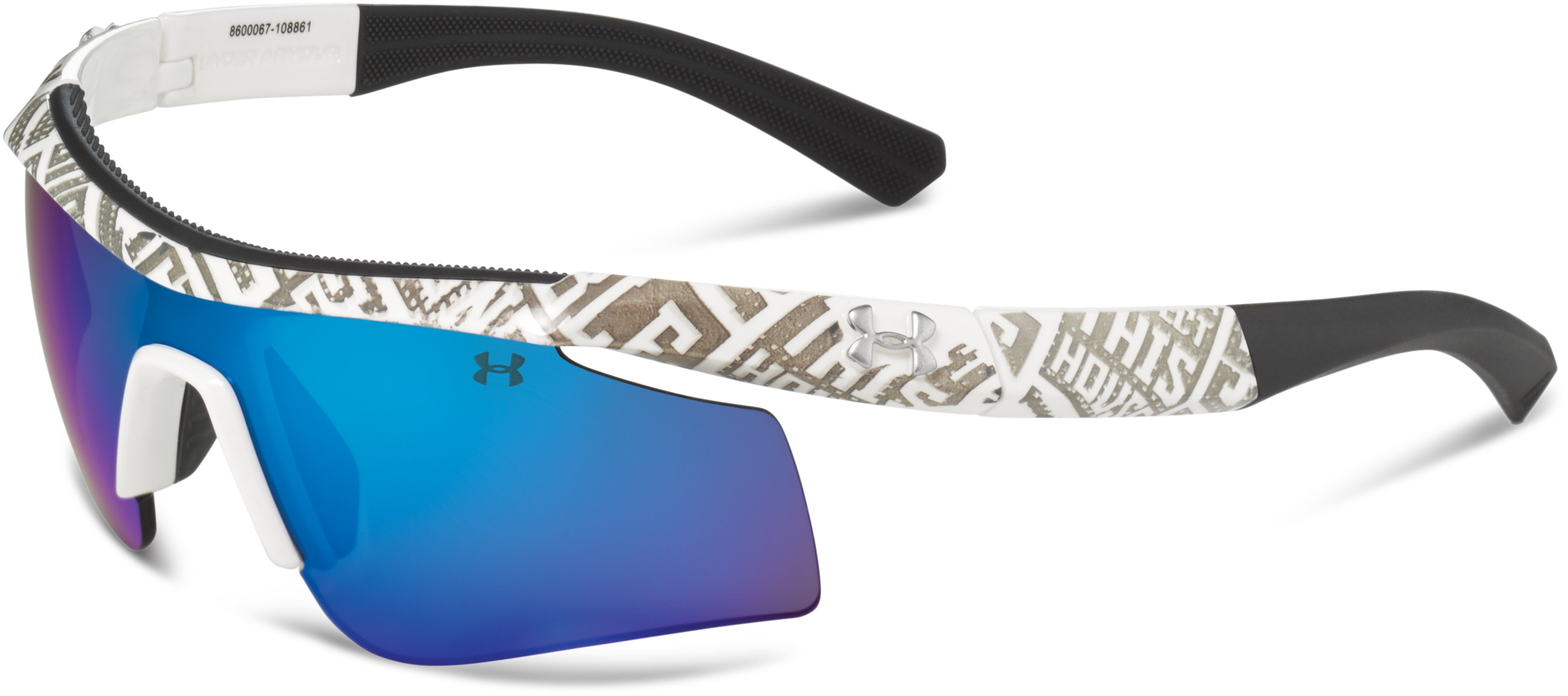 Kids' UA Dynamo Sunglasses, Shiny White