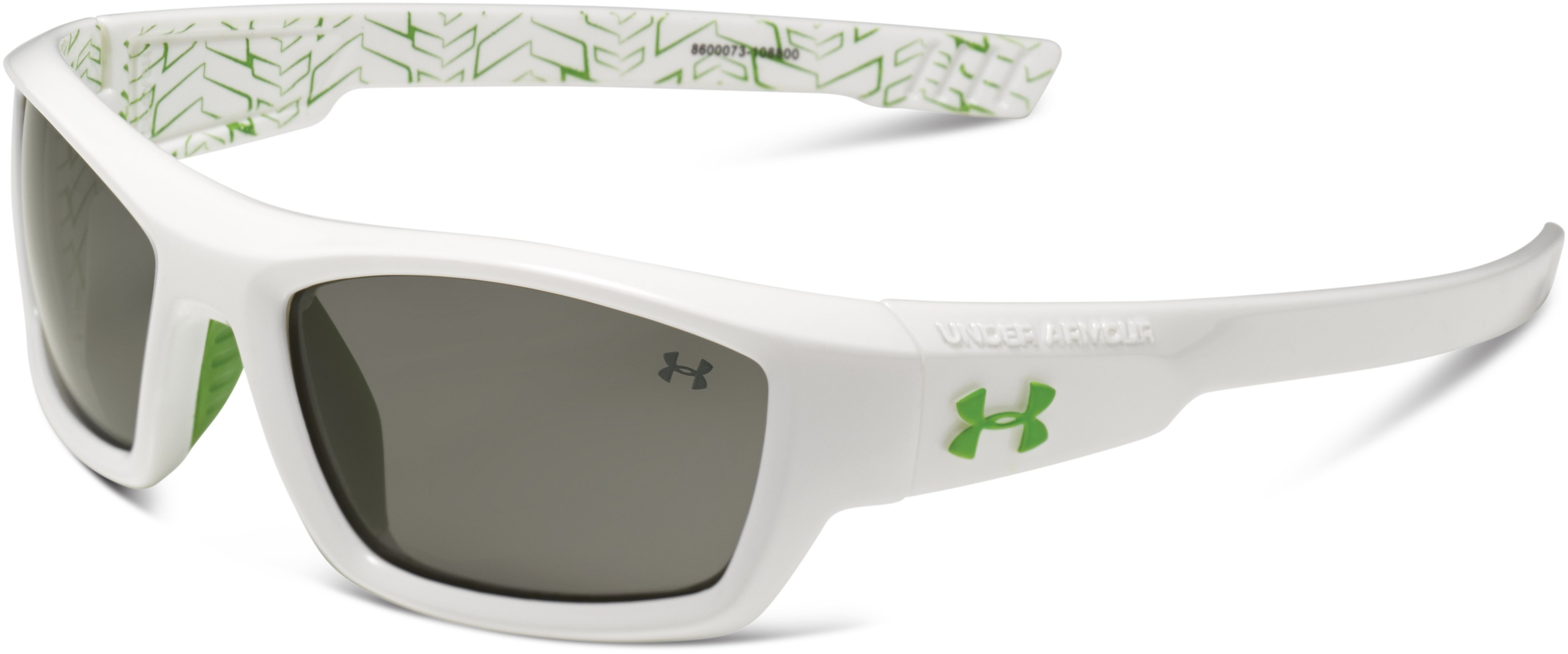 Kids' UA Ace Sunglasses, Shiny White