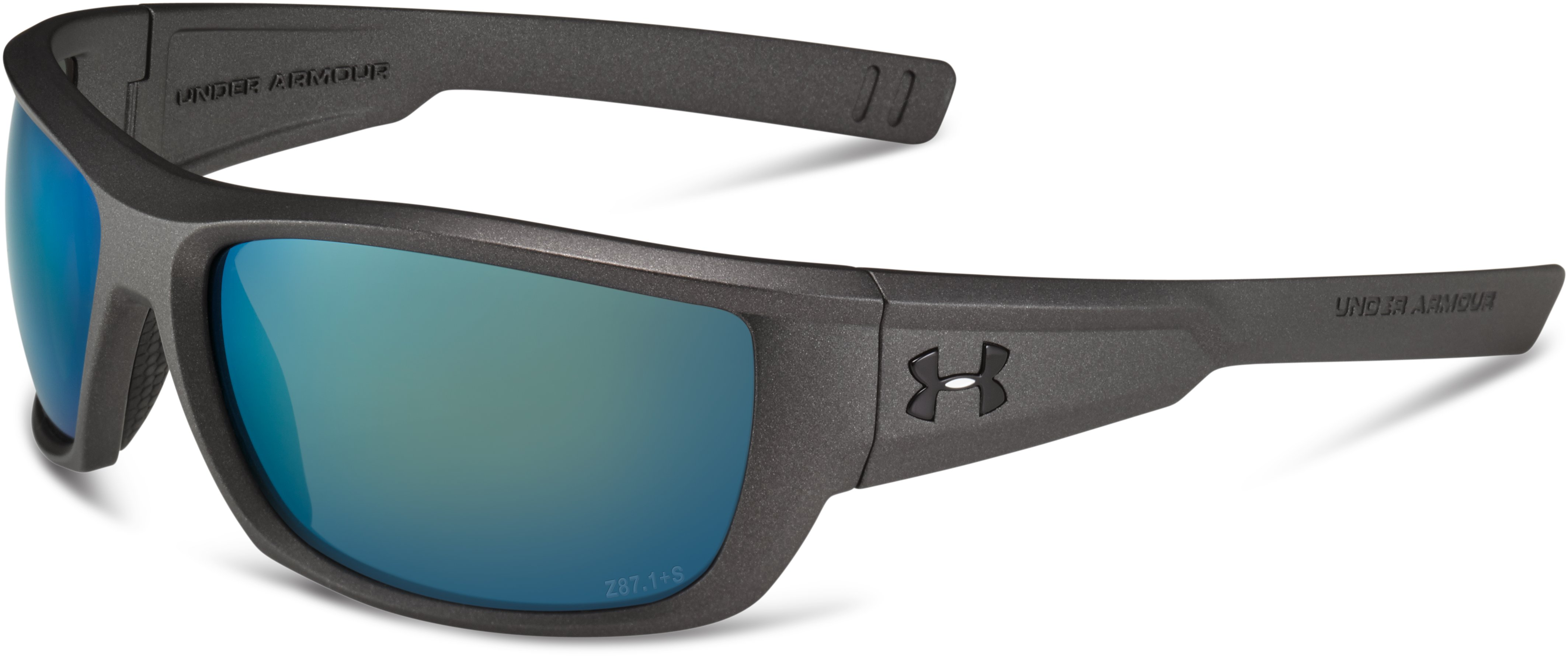 UA Rumble Storm Polarized Sunglasses, Satin Carbon, zoomed image
