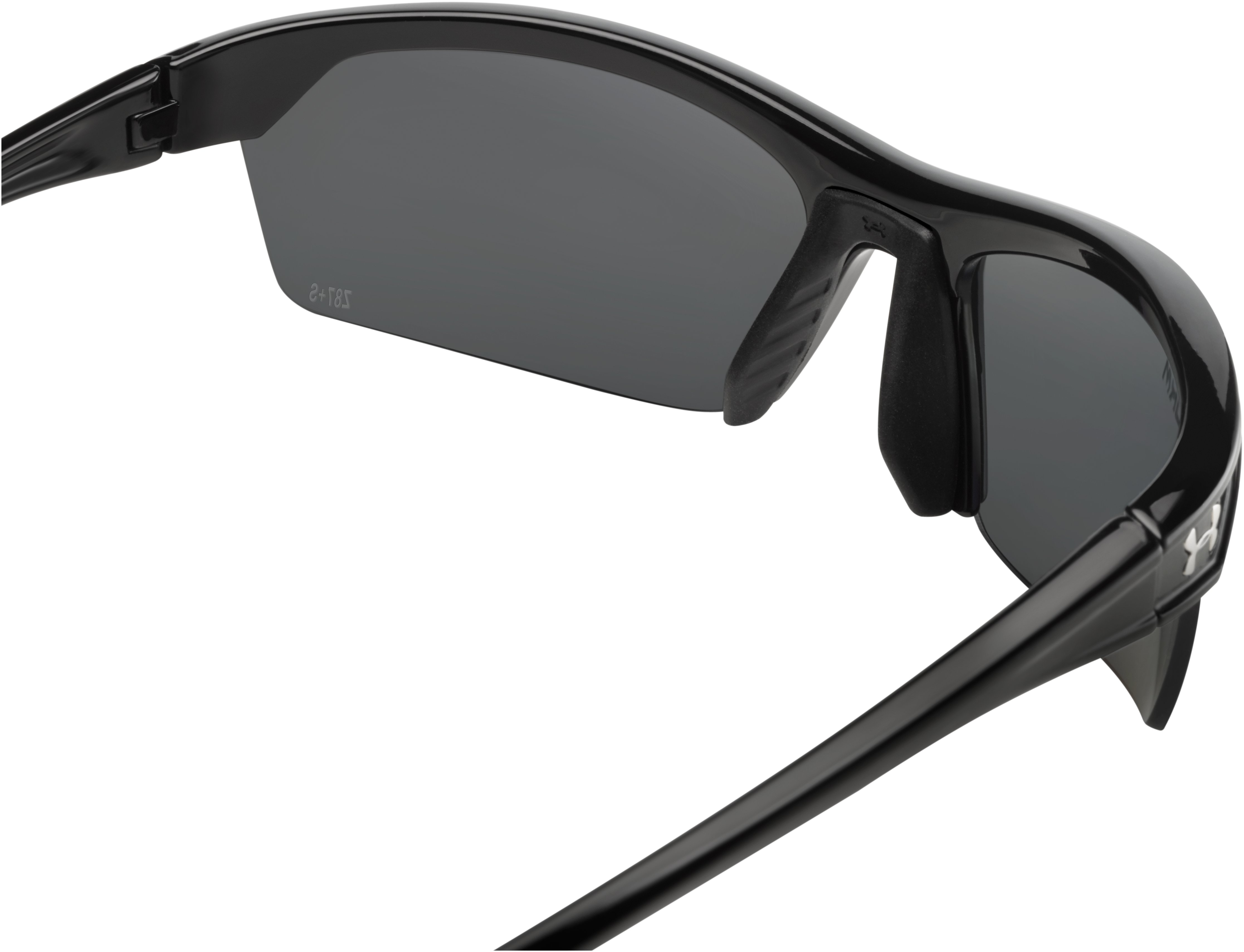 UA Zone 2.0 Storm Polarized Sunglasses, Shiny Black,