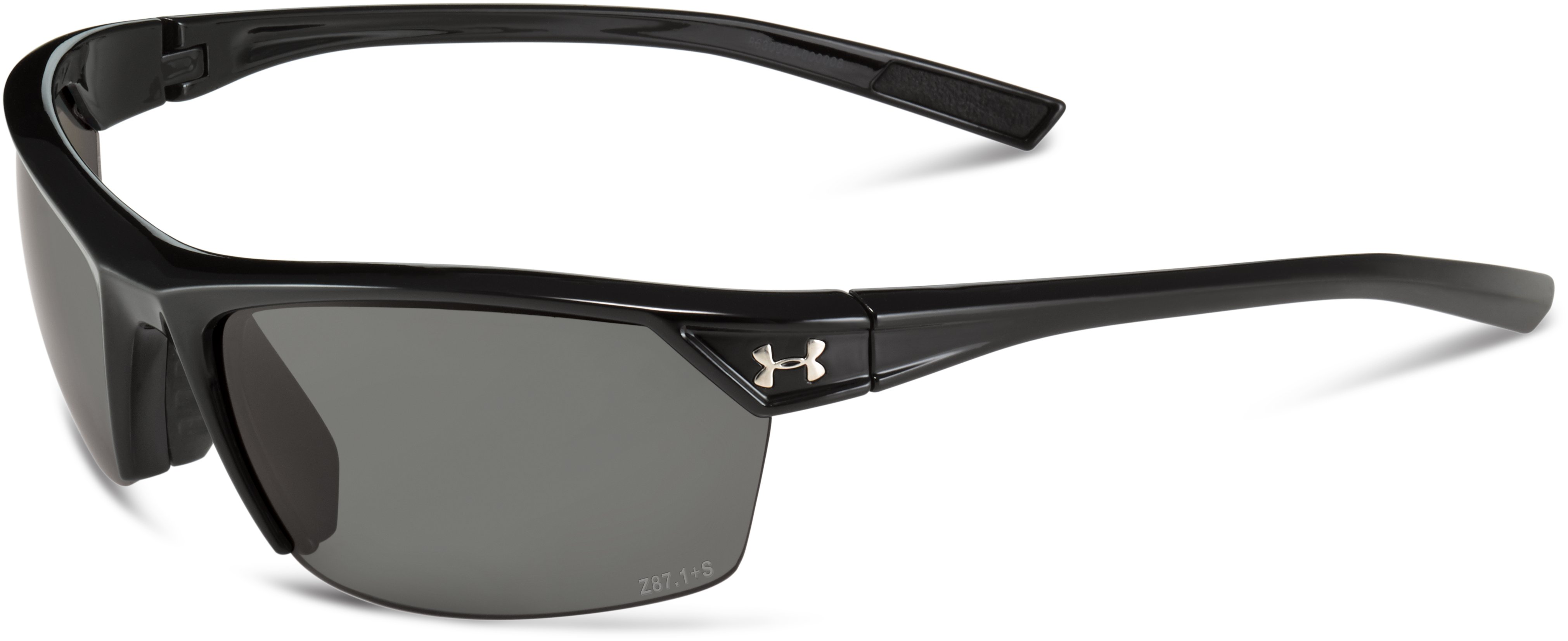 UA Zone 2.0 Storm Polarized Sunglasses, Shiny Black