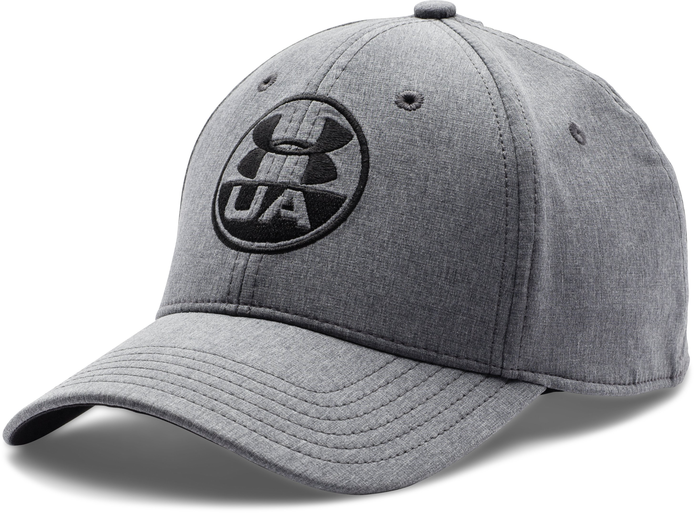Men's UA Chambray Stretch Fit Cap, Black , zoomed image