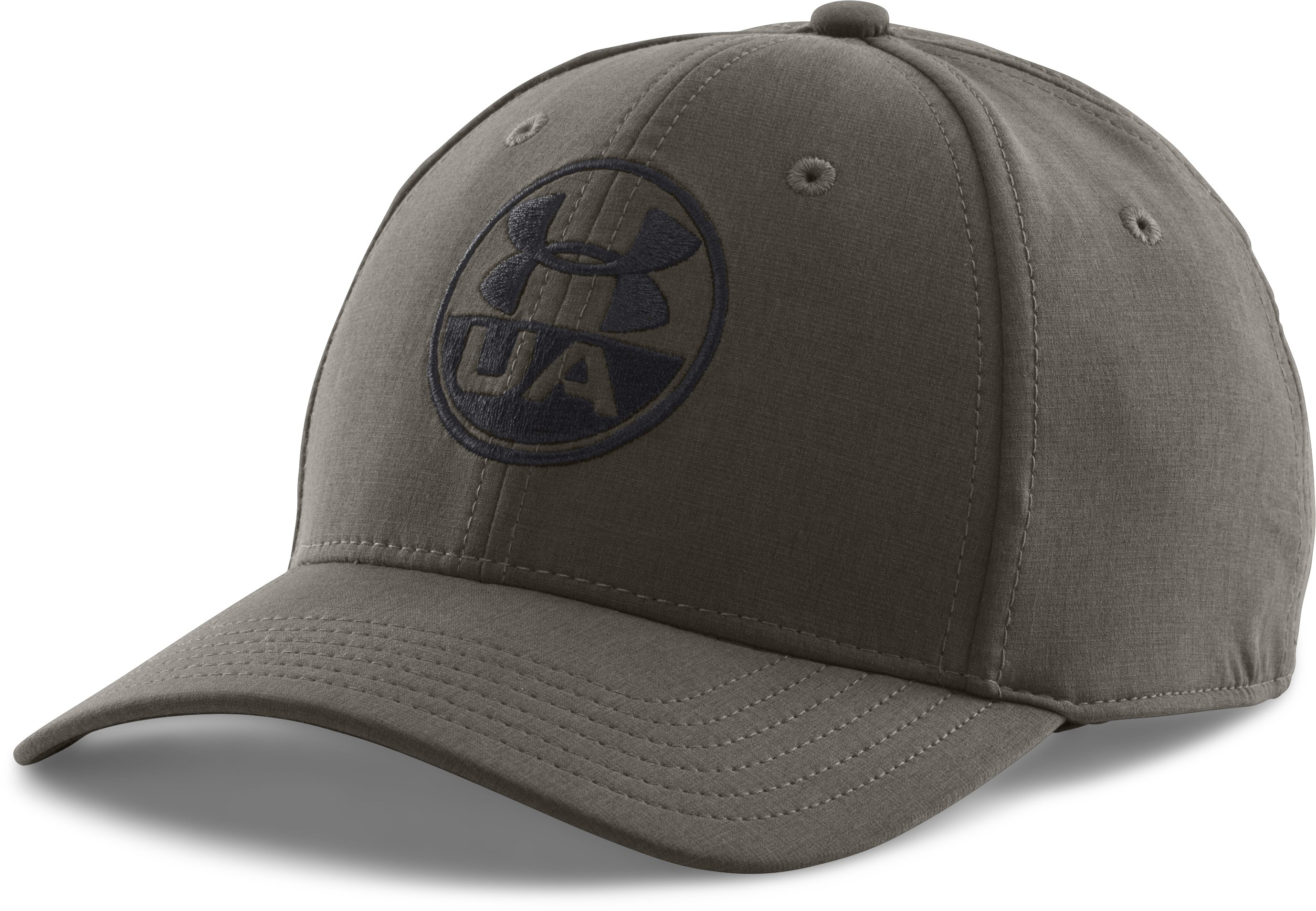 Men's UA Chambray Stretch Fit Cap, Rifle Green, zoomed image