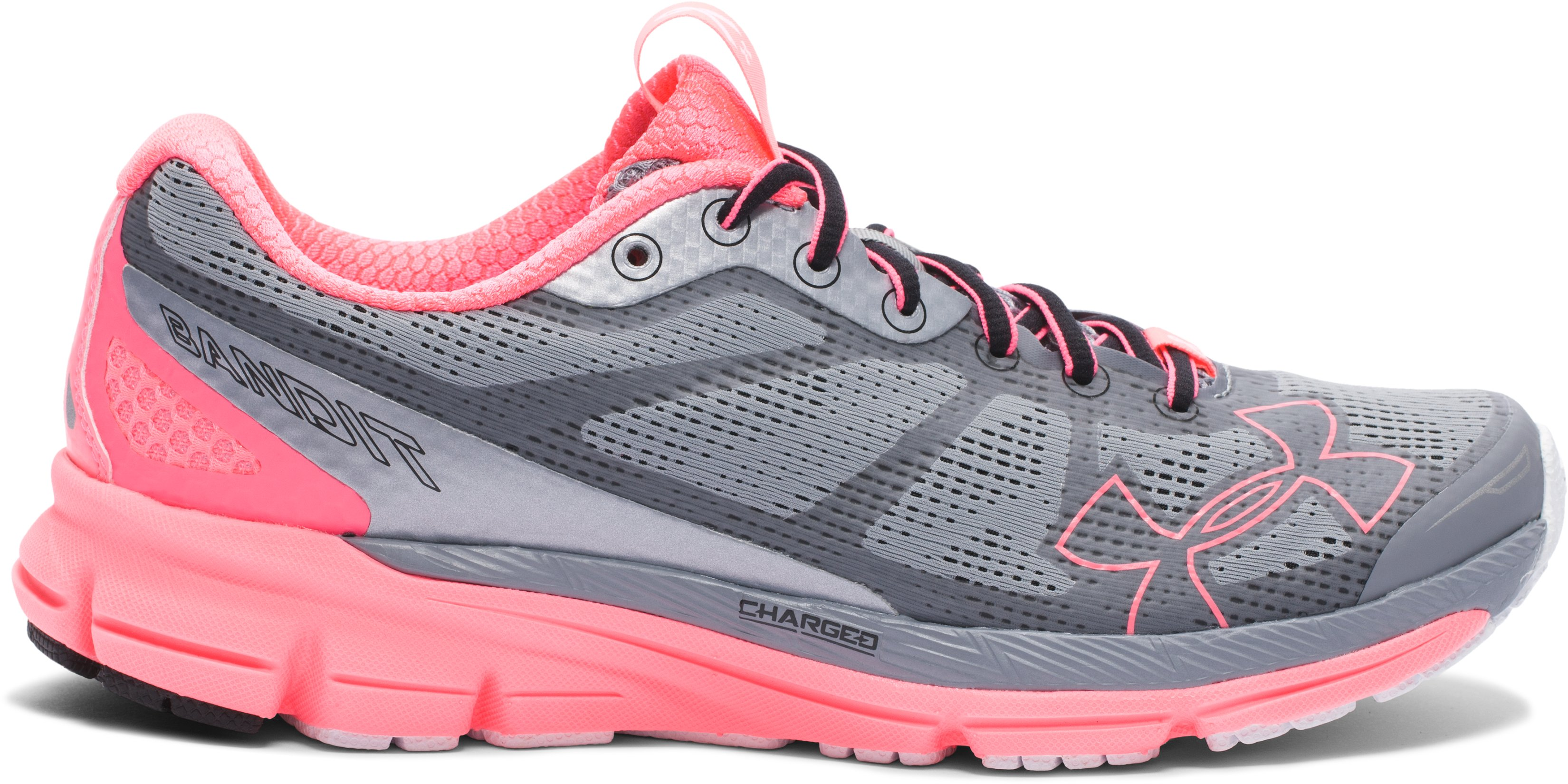 Women's UA Charged Bandit Night Running Shoes, Steel