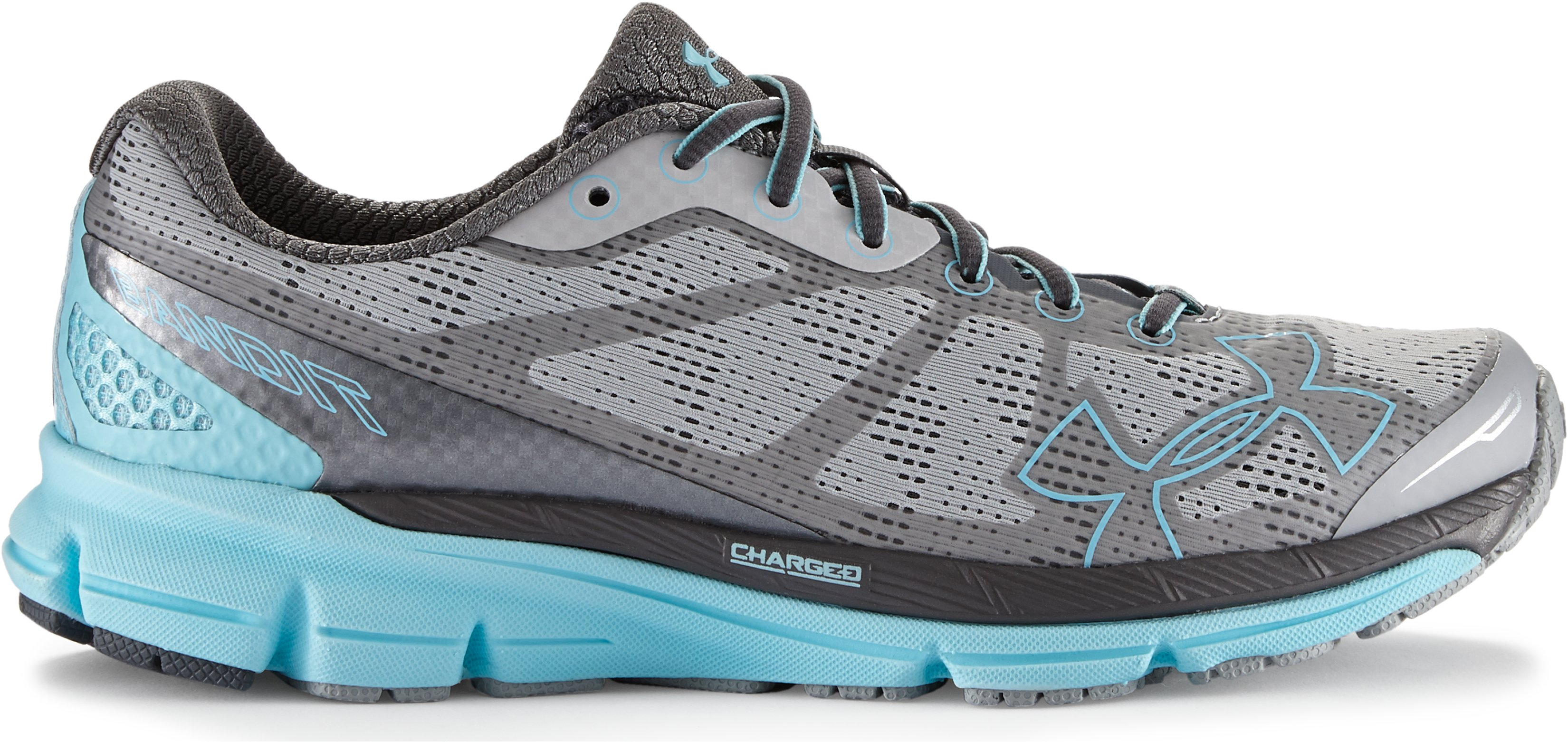 Women's UA Charged Bandit Night Running Shoes, Aluminum,