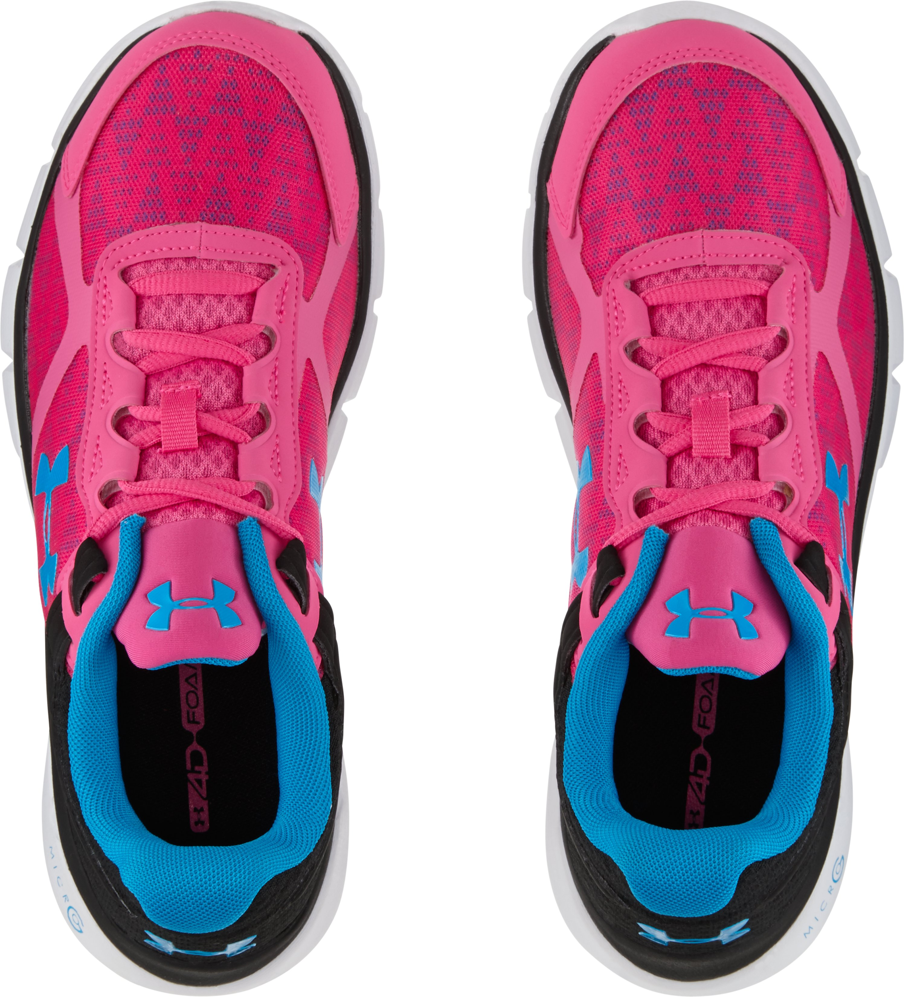Women's UA Micro G® Velocity Running Shoes, REBEL PINK
