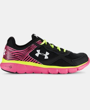 Girls' Grade School UA Micro G® Velocity Running Shoes  1 Color $36.74