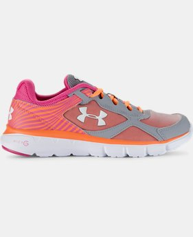 Girls' Grade School UA Micro  G® Velocity Running Shoes  LIMITED TIME: FREE U.S. SHIPPING  $36.74