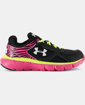 Girls' Pre-School UA Velocity Running Shoes   $54.99